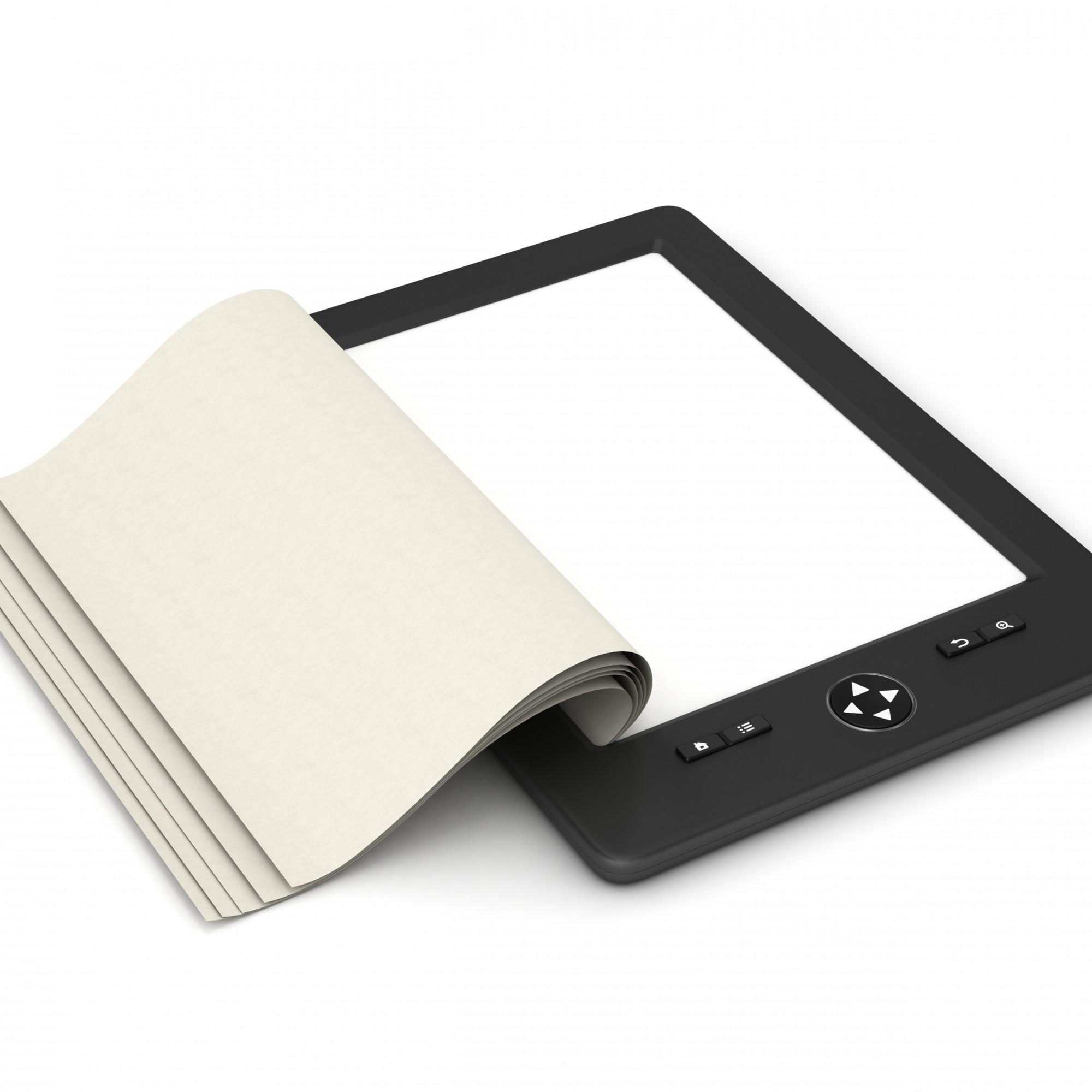 E-Reader mit Buchseite