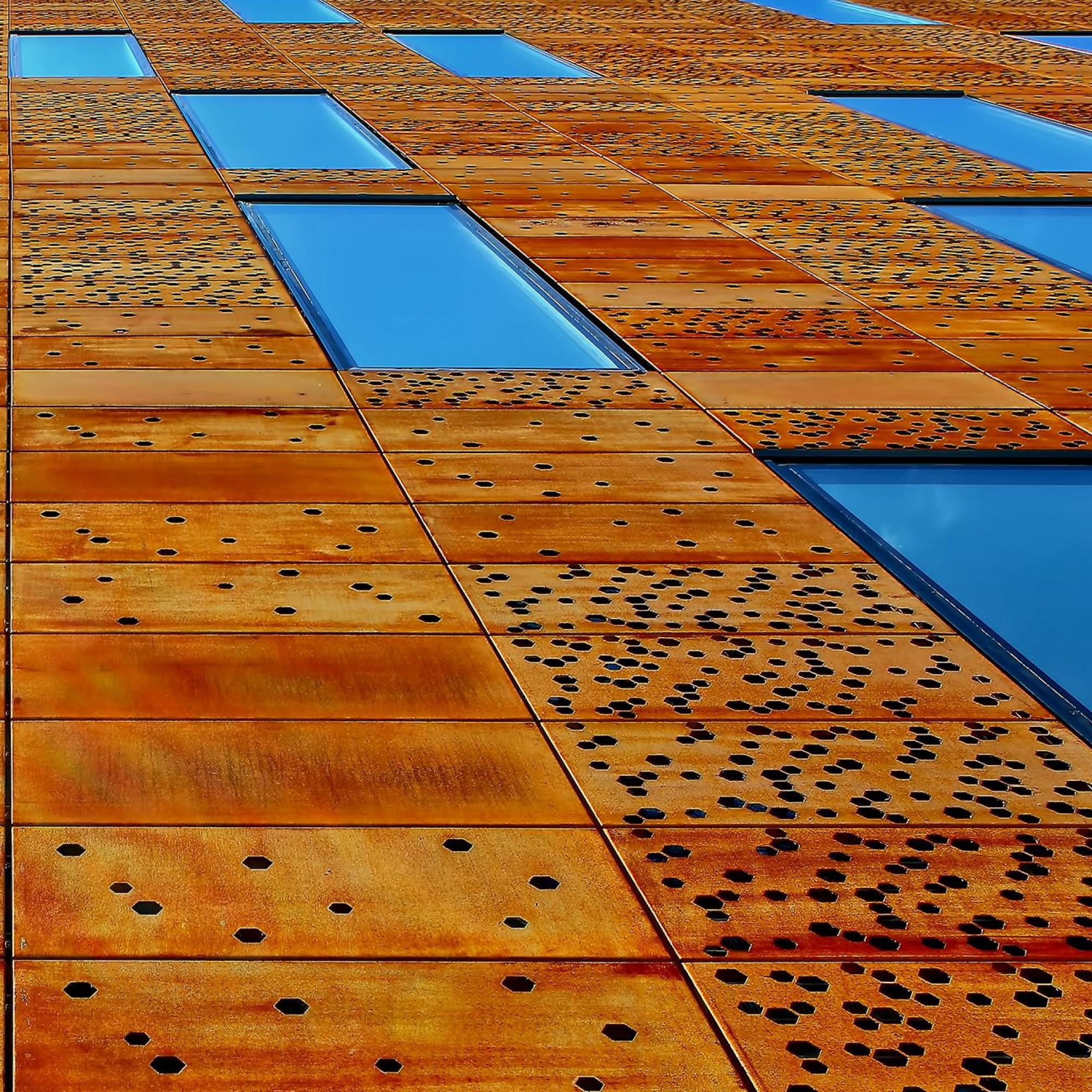 Holzfassade, Detail.