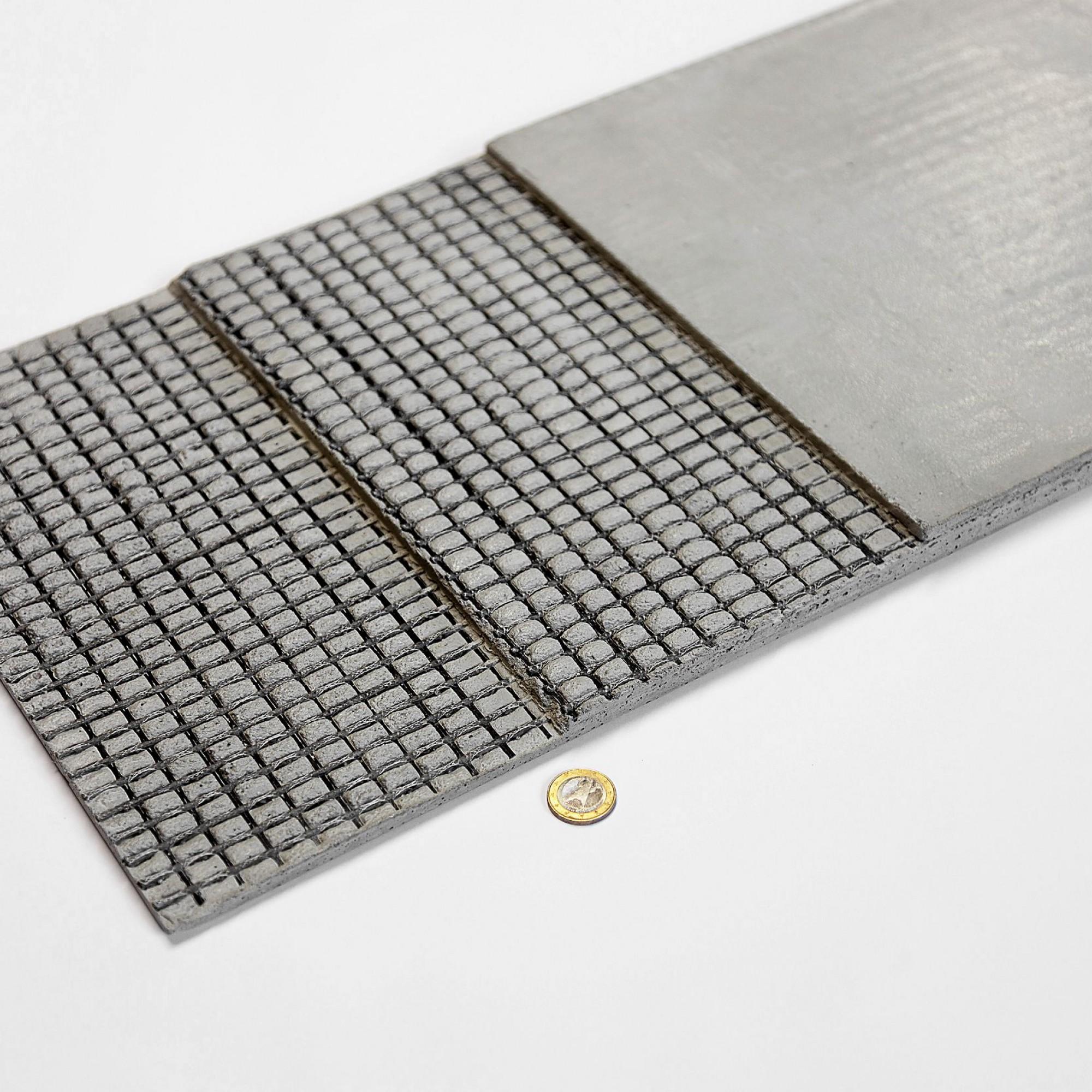 Carbonbeton ist ein Verbundwerkstoff aus Beton und einer Bewehrung aus Kohlenstofffasern (Carbon).