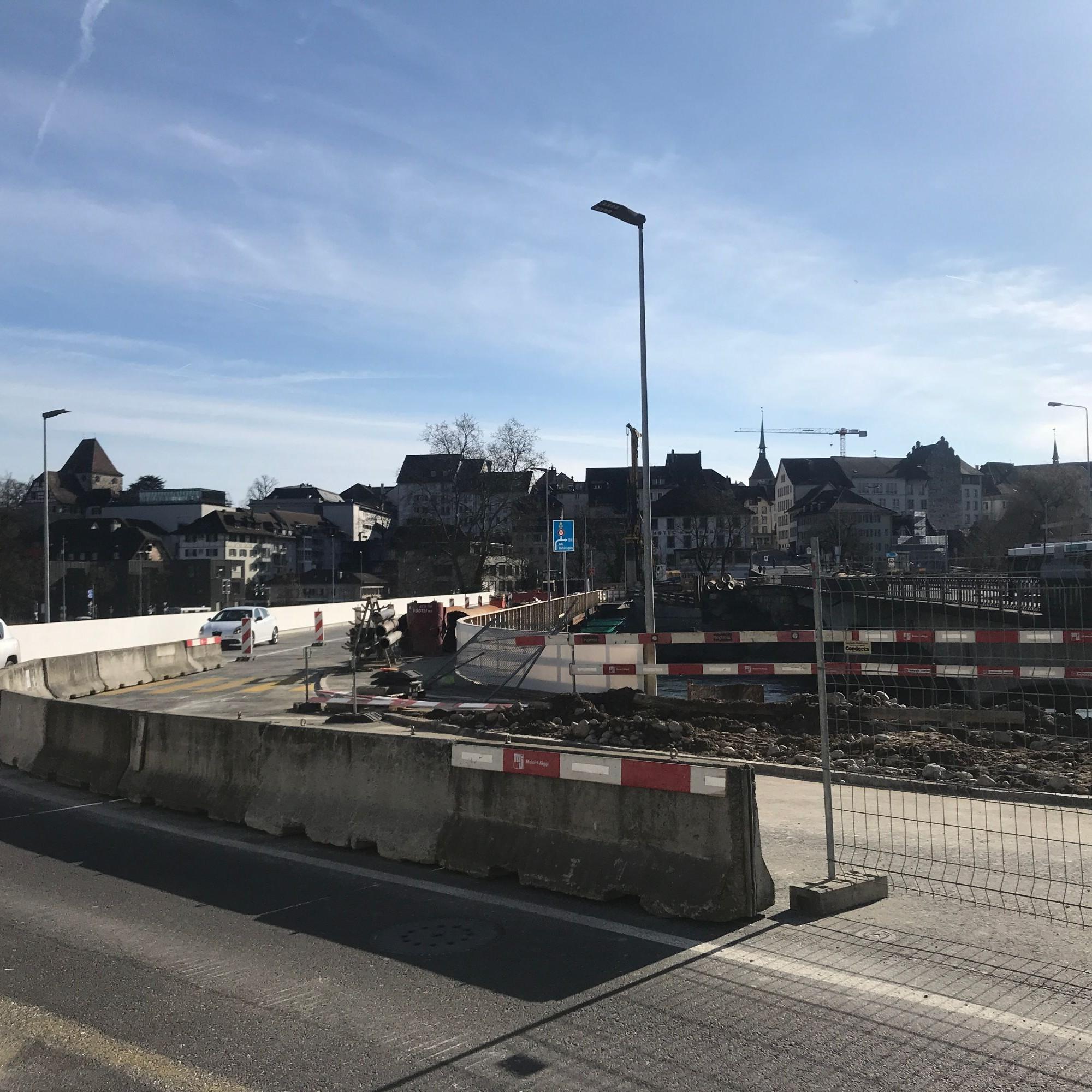Aarauer Hilfsbrücke freigegeben