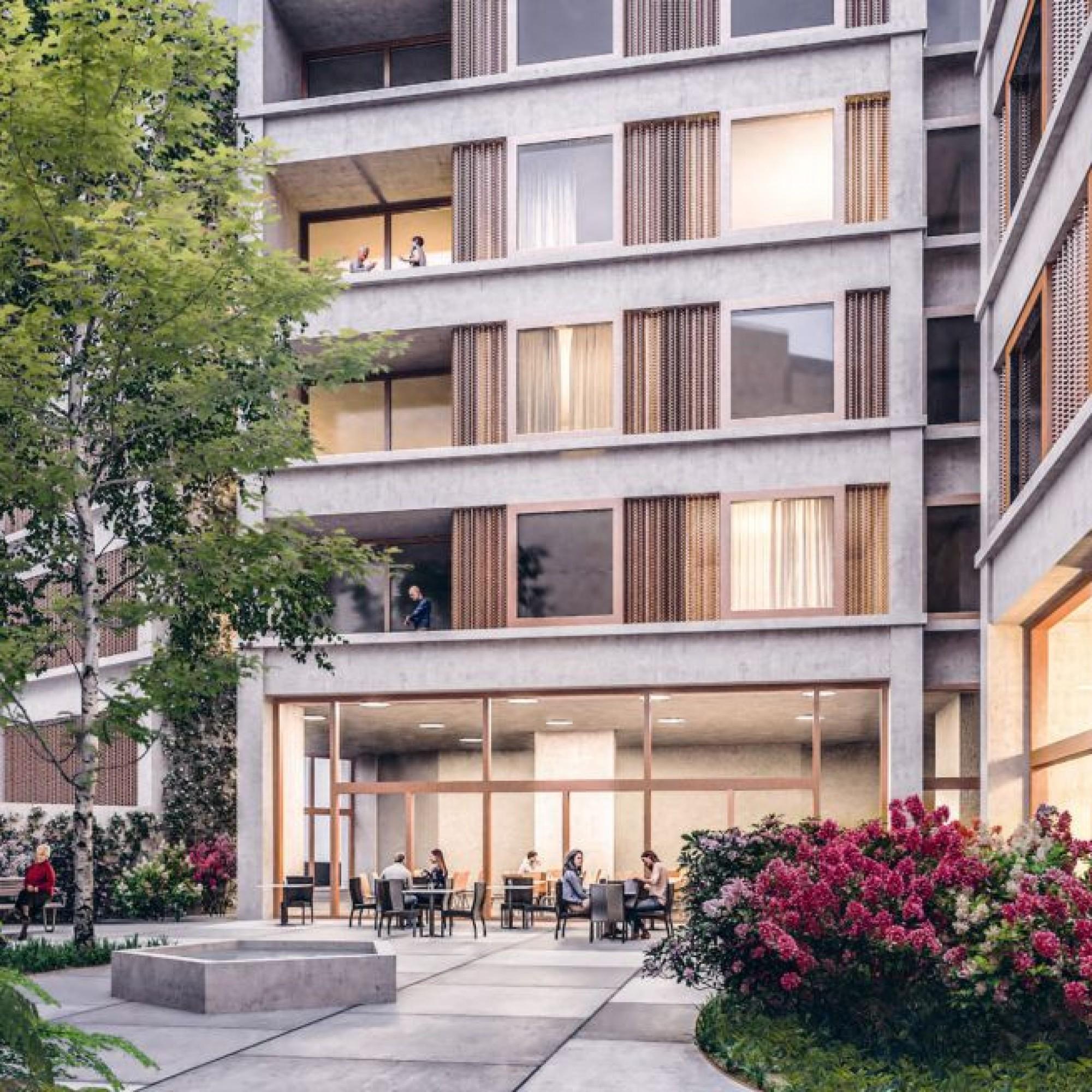 Visualisierung Neubau Blindenheim Basel