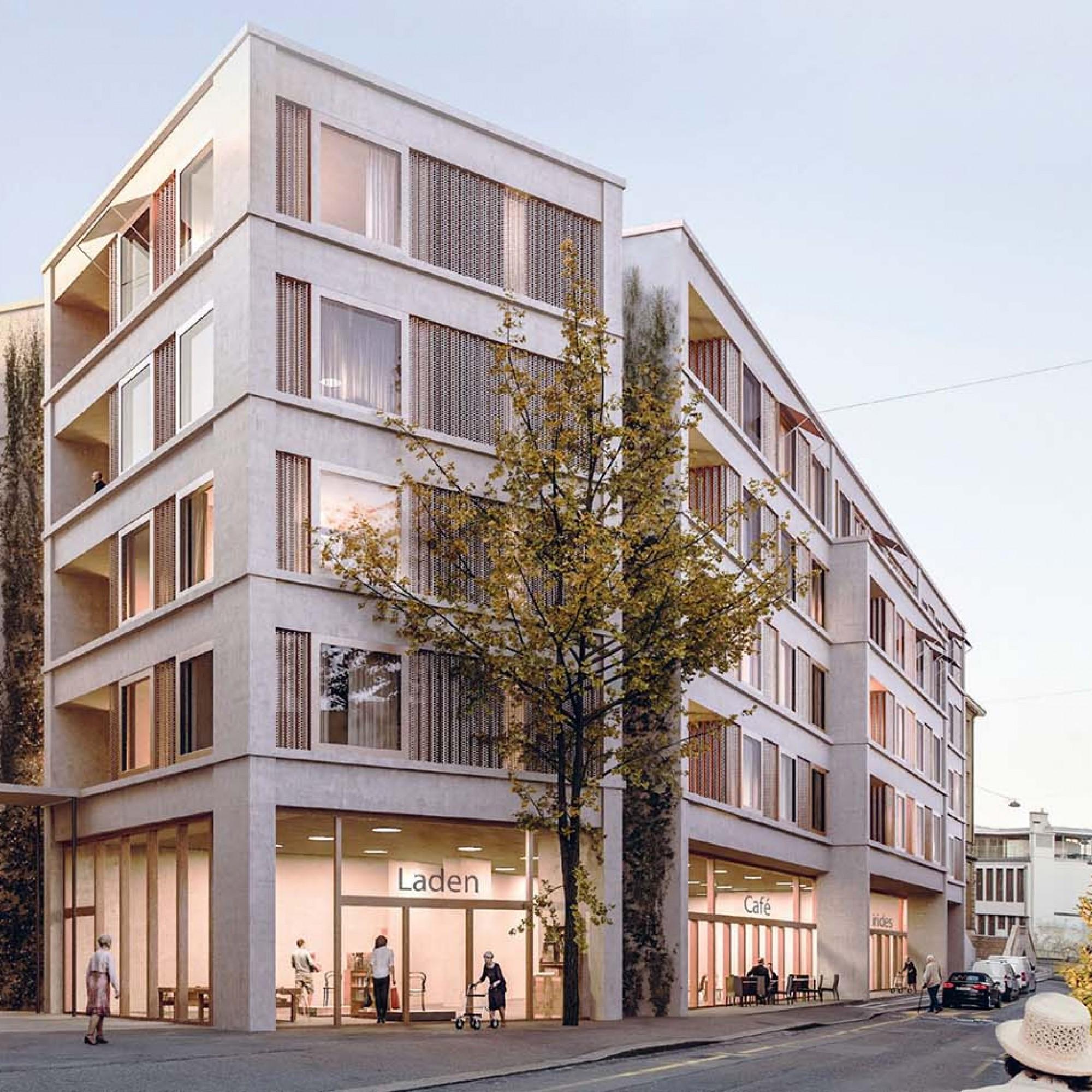Visualisierung neues Blindenheim Basel