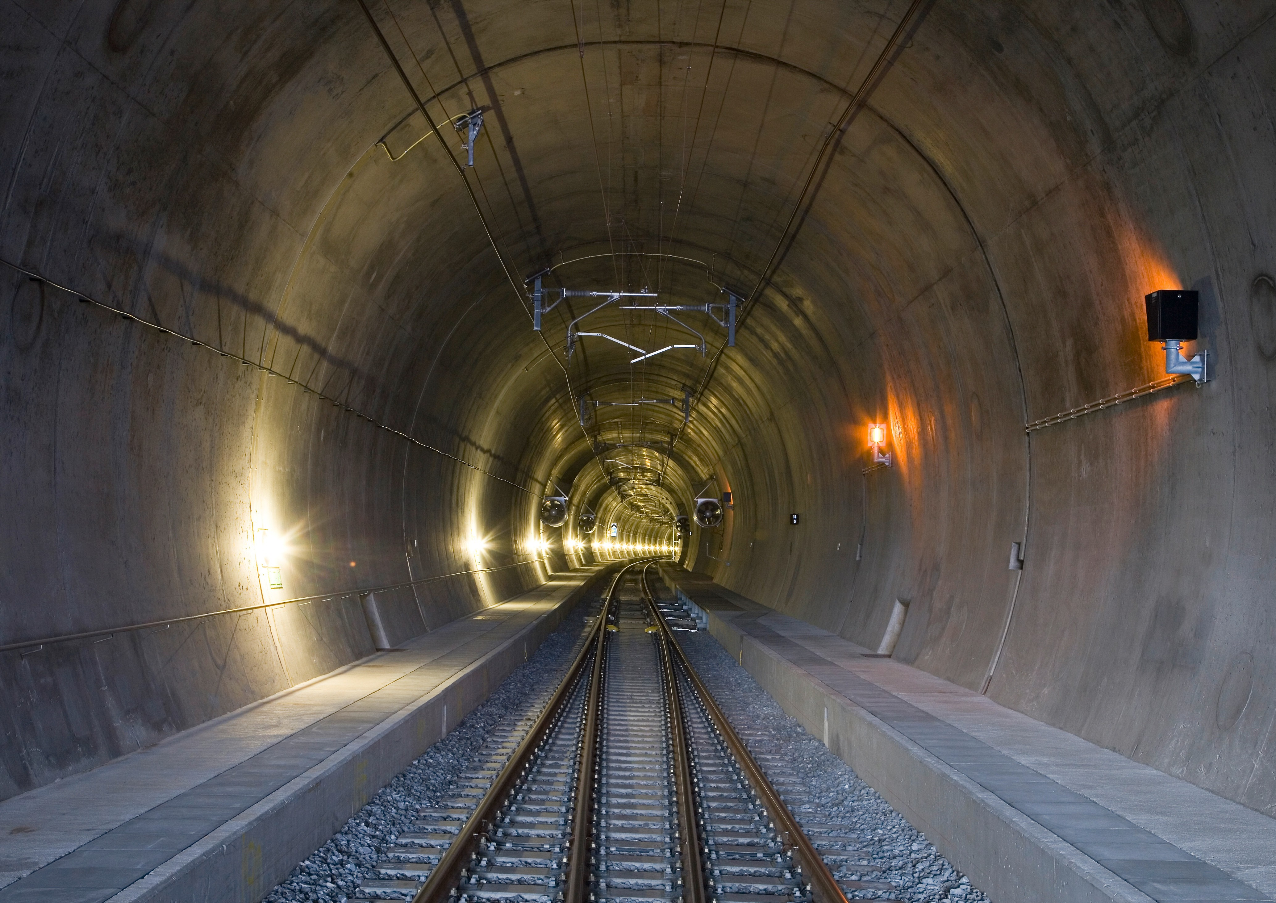 Tunnelröhre Lötschberg-Basistunnel