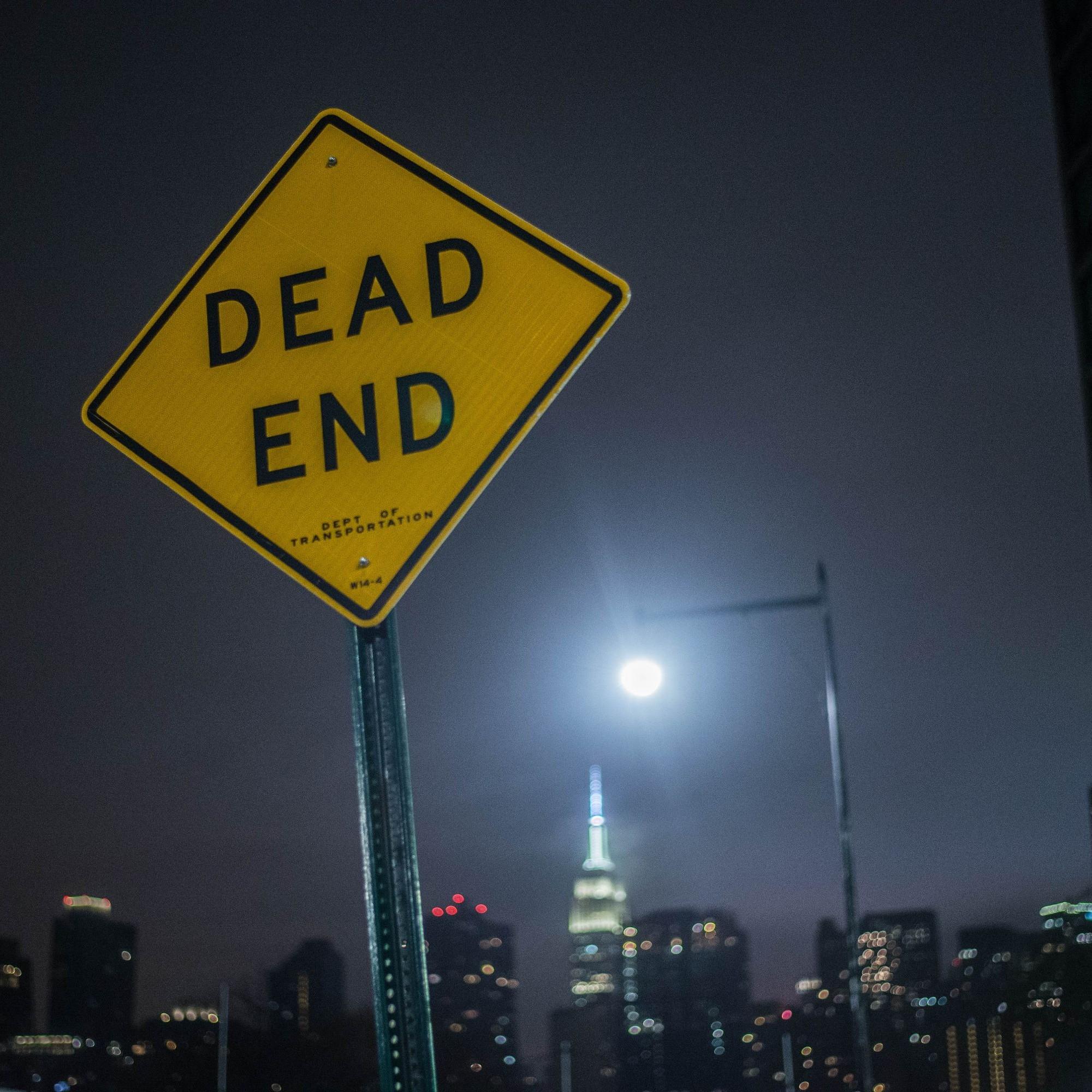 Dead-End-Strassentafel