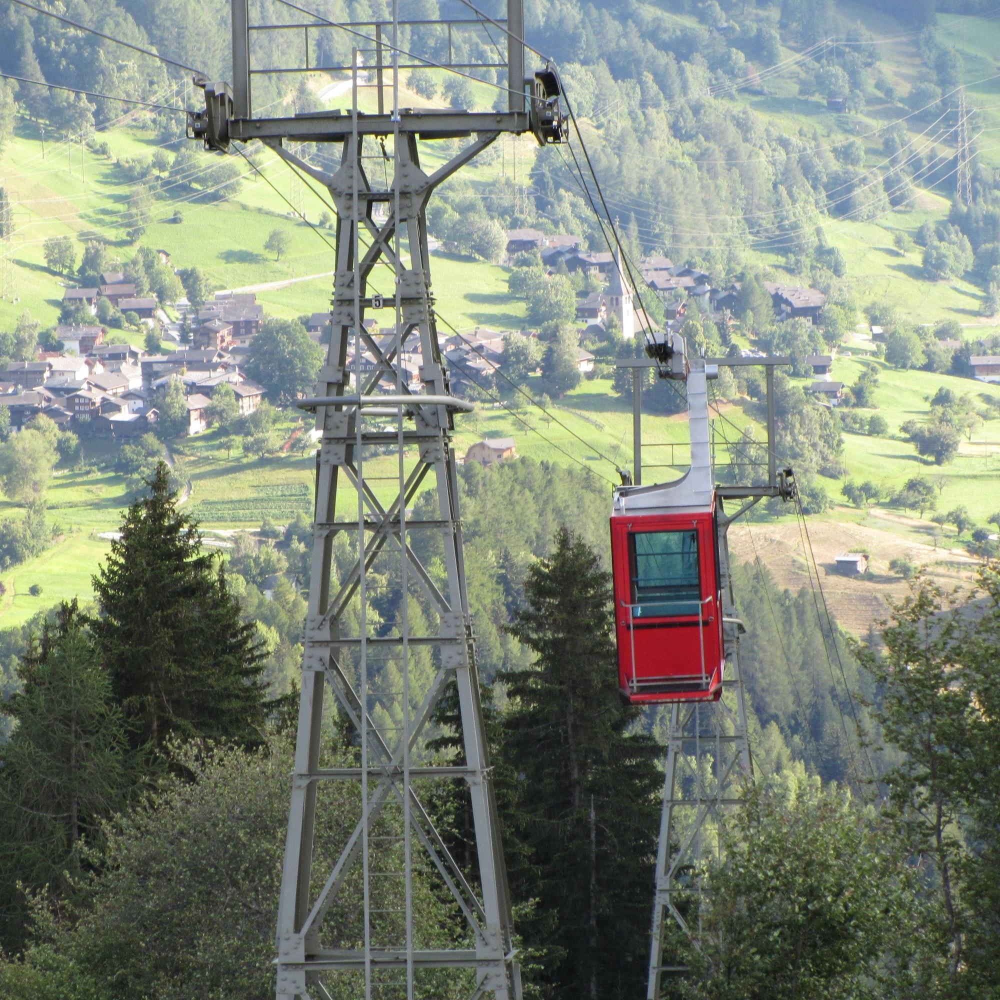 Die Luftseilbahn Fürgangen-Bellwald