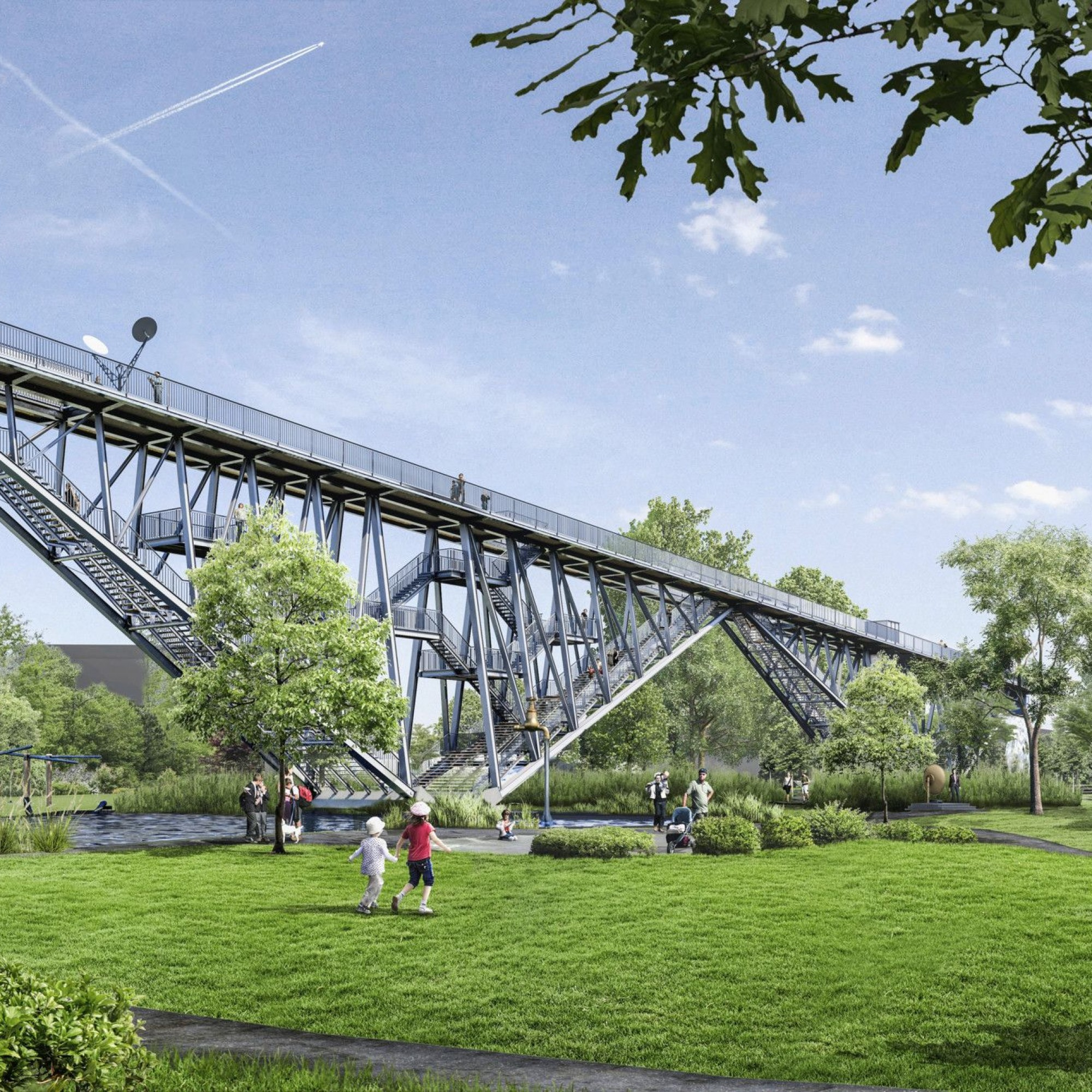 Visualisierung der Wunderbrücke im Technorama-Park