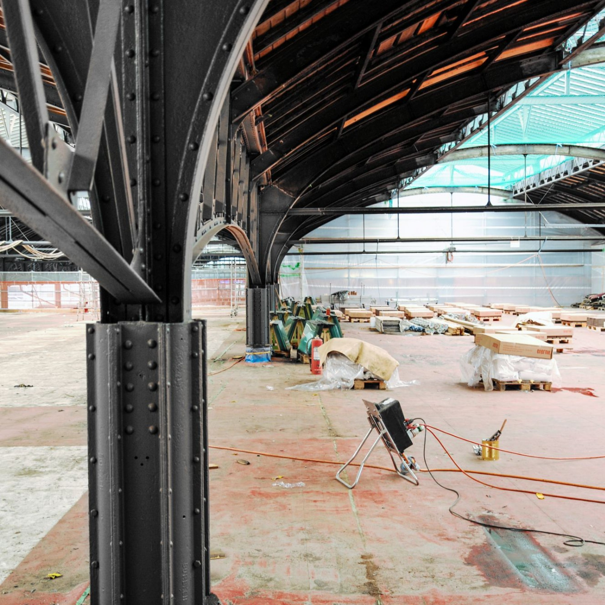Baustelle zur Sanierung des Bahnhofs Basel SBB