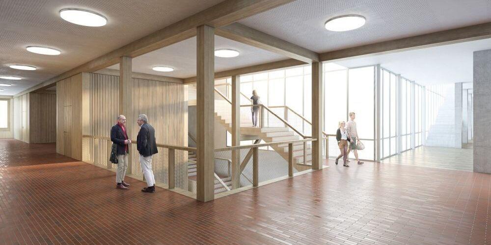 Visualisierung des Innenraums des Erweiterungsbau der Kantonsschule Frauenfeld