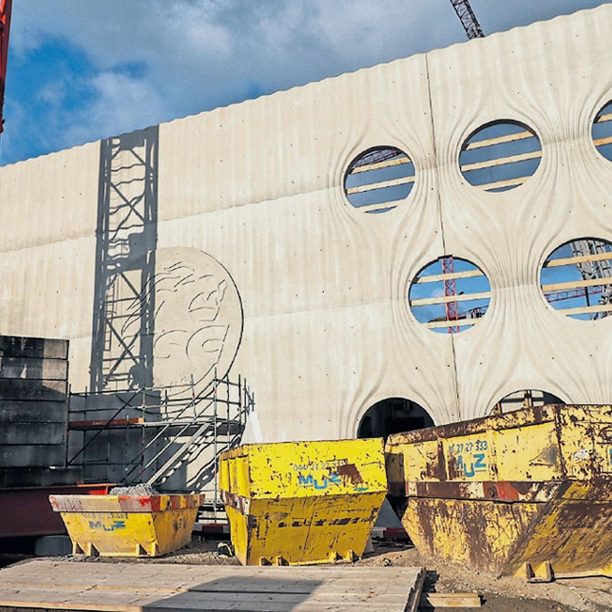 Bau der Swisslife Arena in Zürich