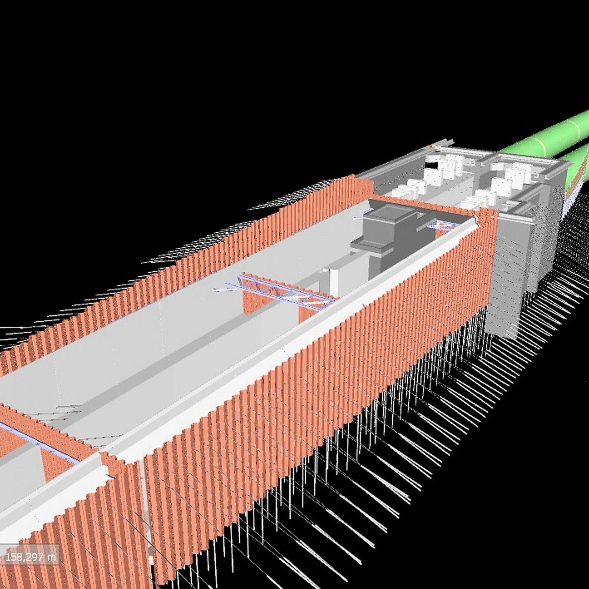 BIM-Planung für ein Tiefbauprojekt
