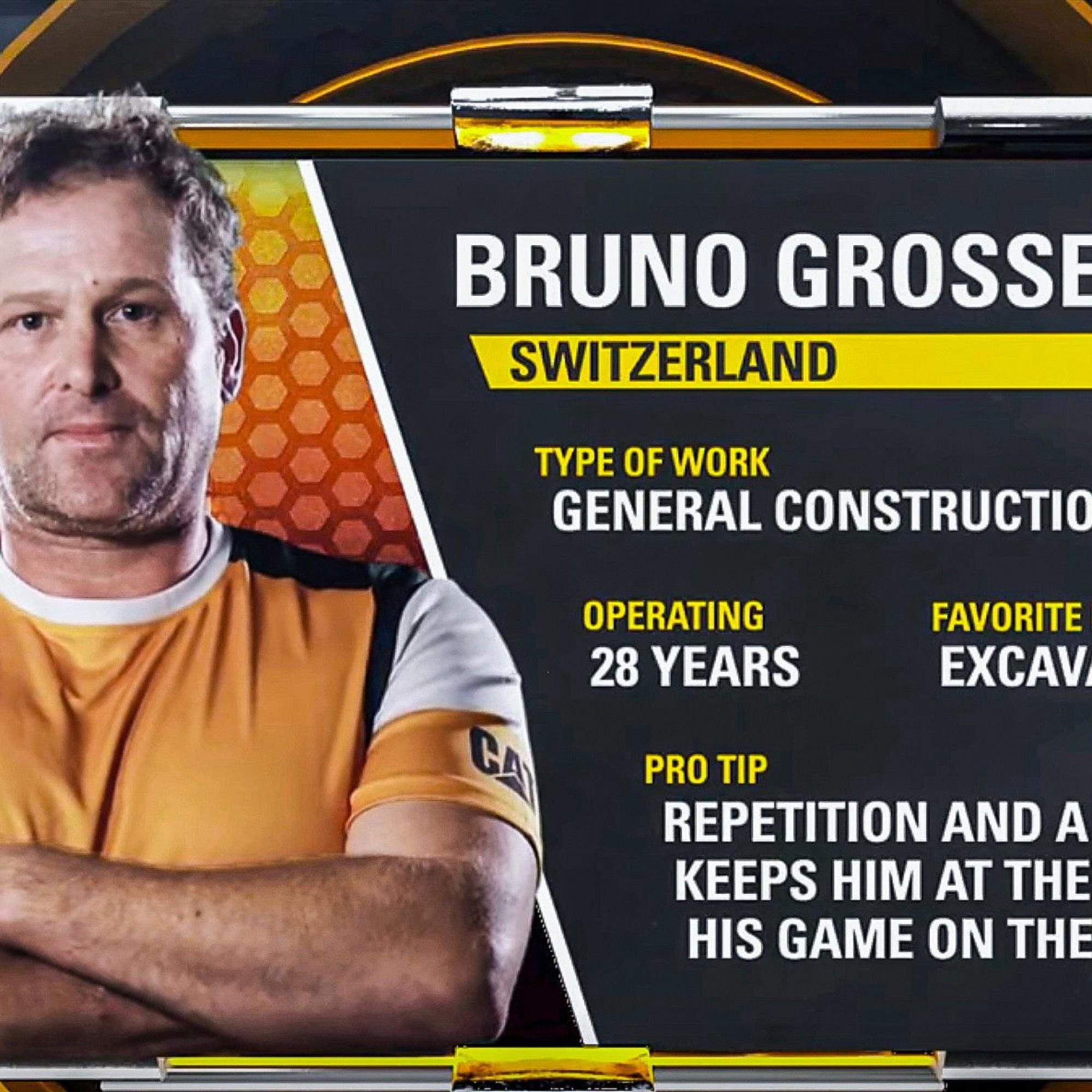 Vorstellung des Schweizer Teilnehmers Bruno Grossen
