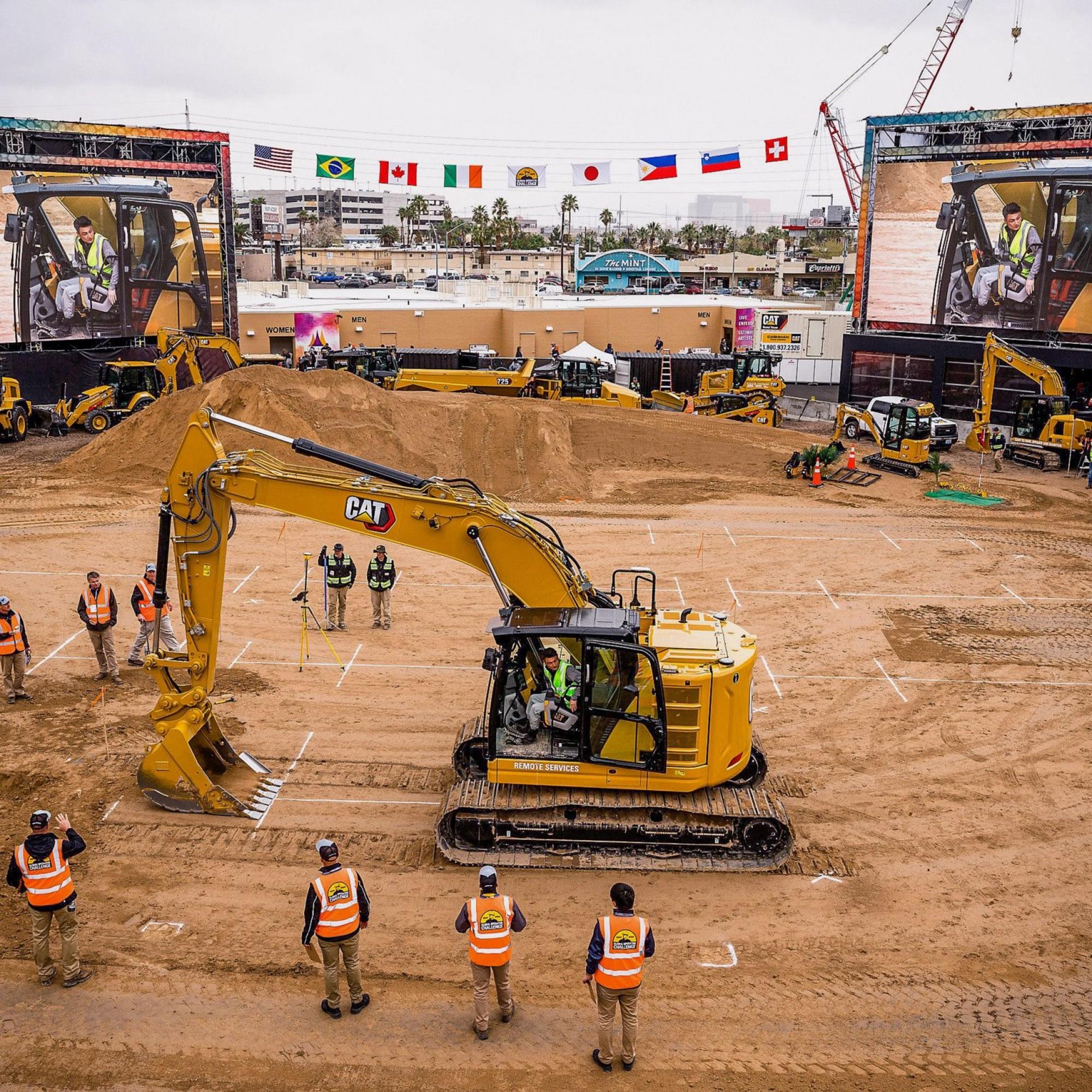 Cat Operator-Stadion auf dem Messeareal der Conexpo 2020 in Las Vegas