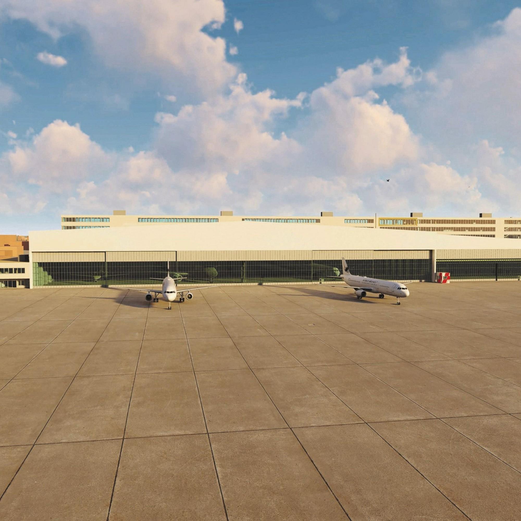 Projekt Hangar für Geschäftsfliegerei, Flughafen Zürich