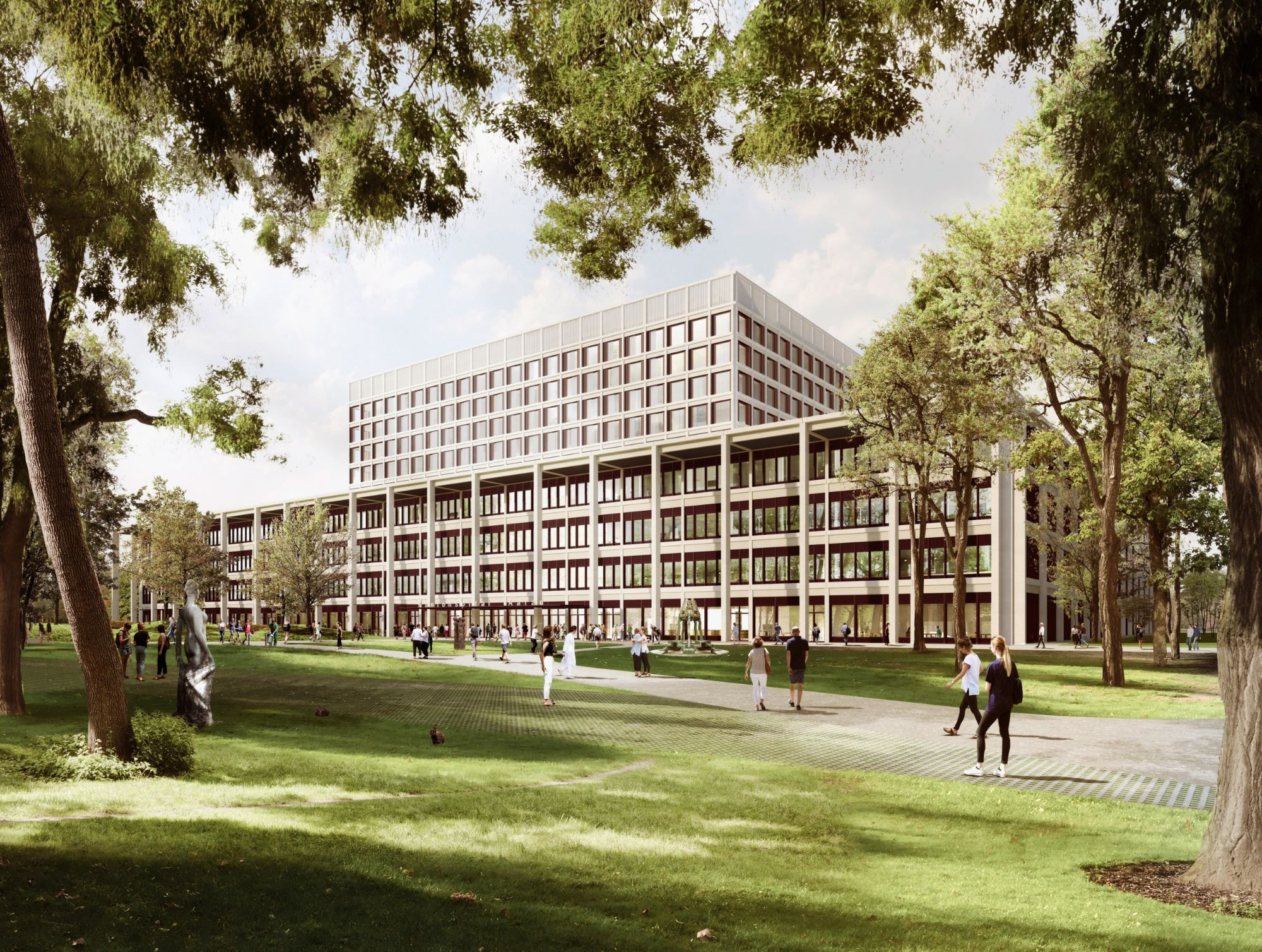 Visualisierung des Neubaus«Dreiklang»des Kantonsspitals Aarau.
