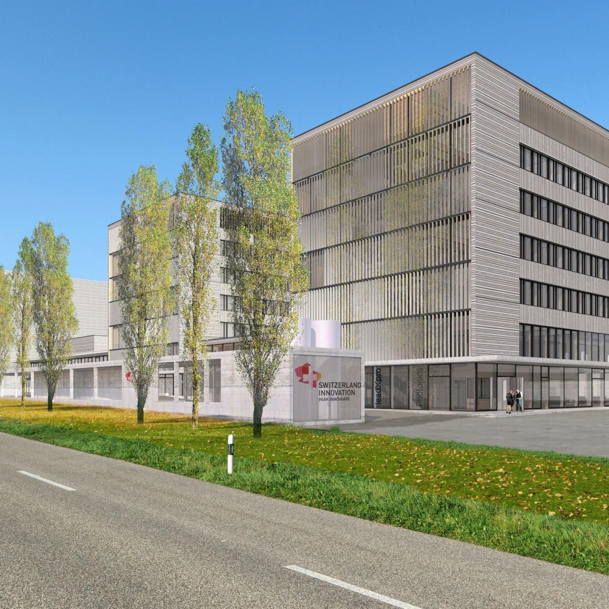 Visualisierung  Projekt Park Innovaare in Villigen
