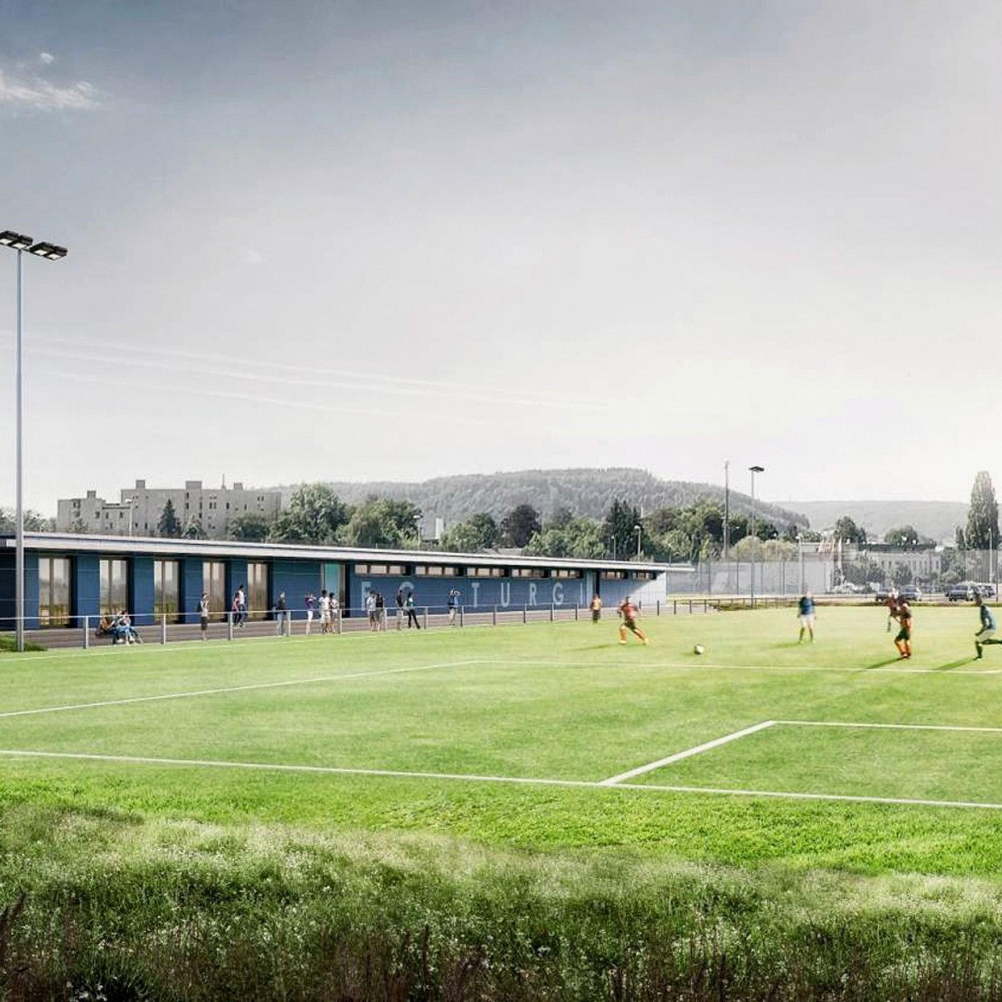 Visualisierung des neuen Sportplatzes des FC Turgi