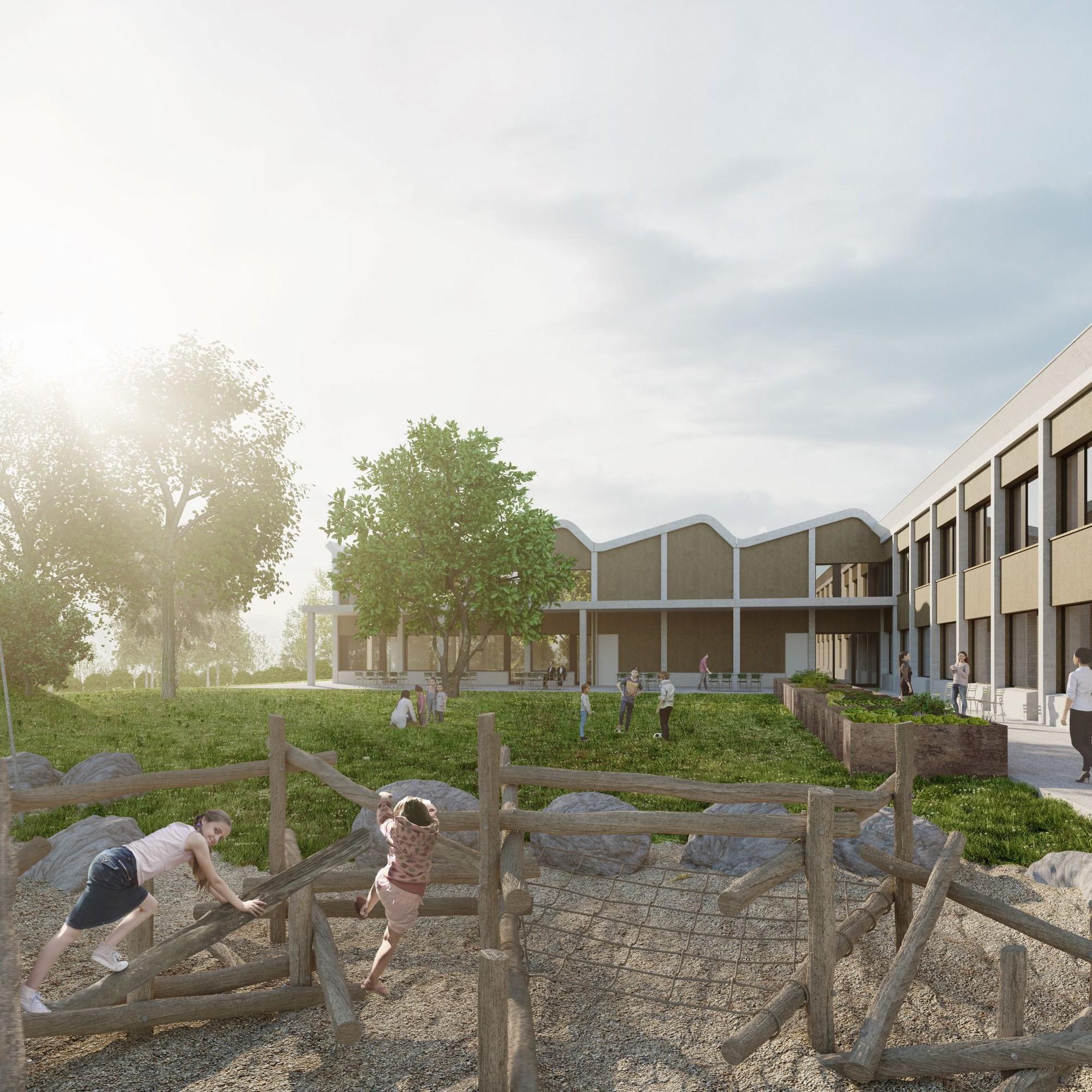 Visualisierung Ersatzneubau Heilpägagogische Schule Bern