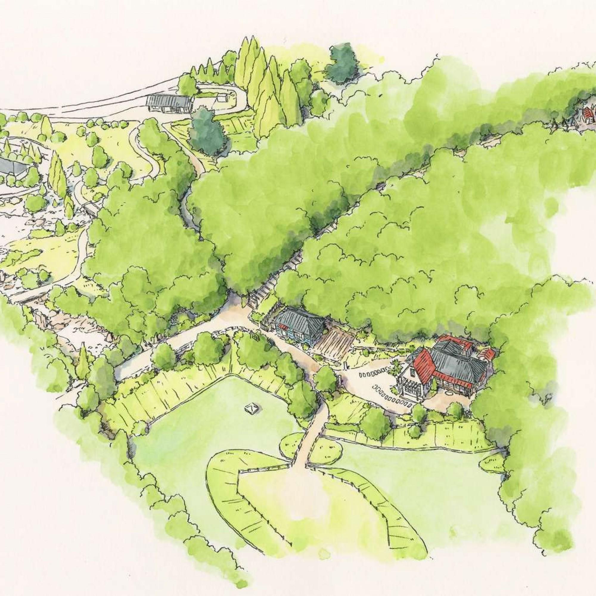 Illustration des Tororo-Areals im Ghibli-Park
