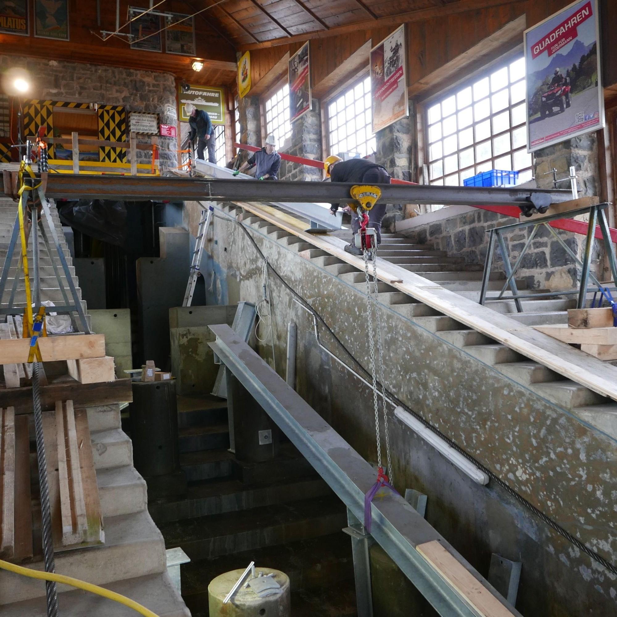 Die Bergstation wird ebenfalls erneuert.