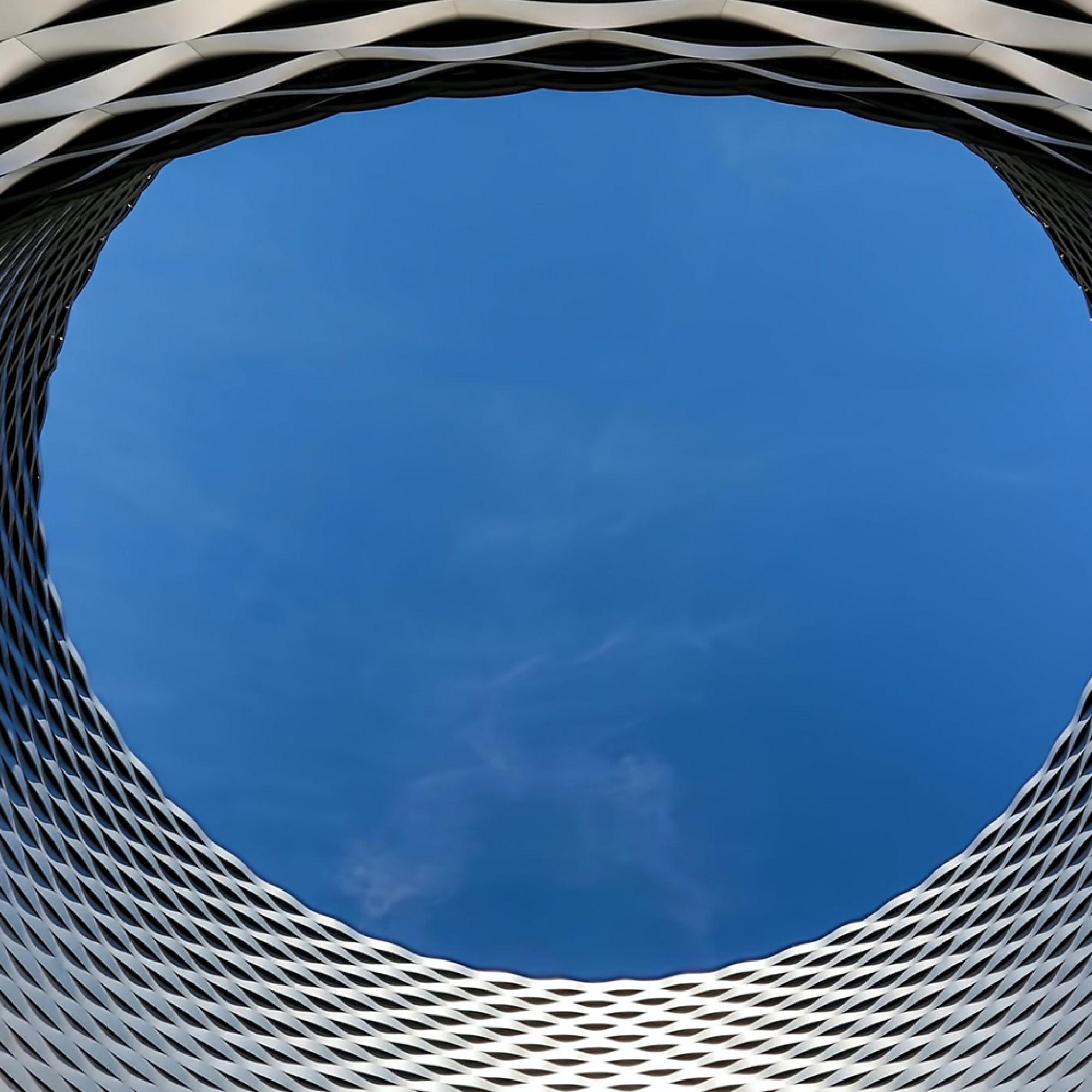 Fassade auf dem Messeplatz in Basel
