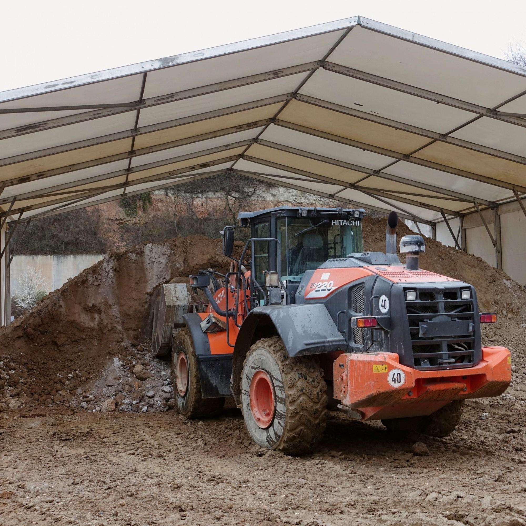 Zwischenlagerung von Baustellen-Aushubmaterial