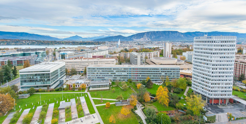 Gebäude derInternationalen Fernmeldeunion (ITU) in Genf