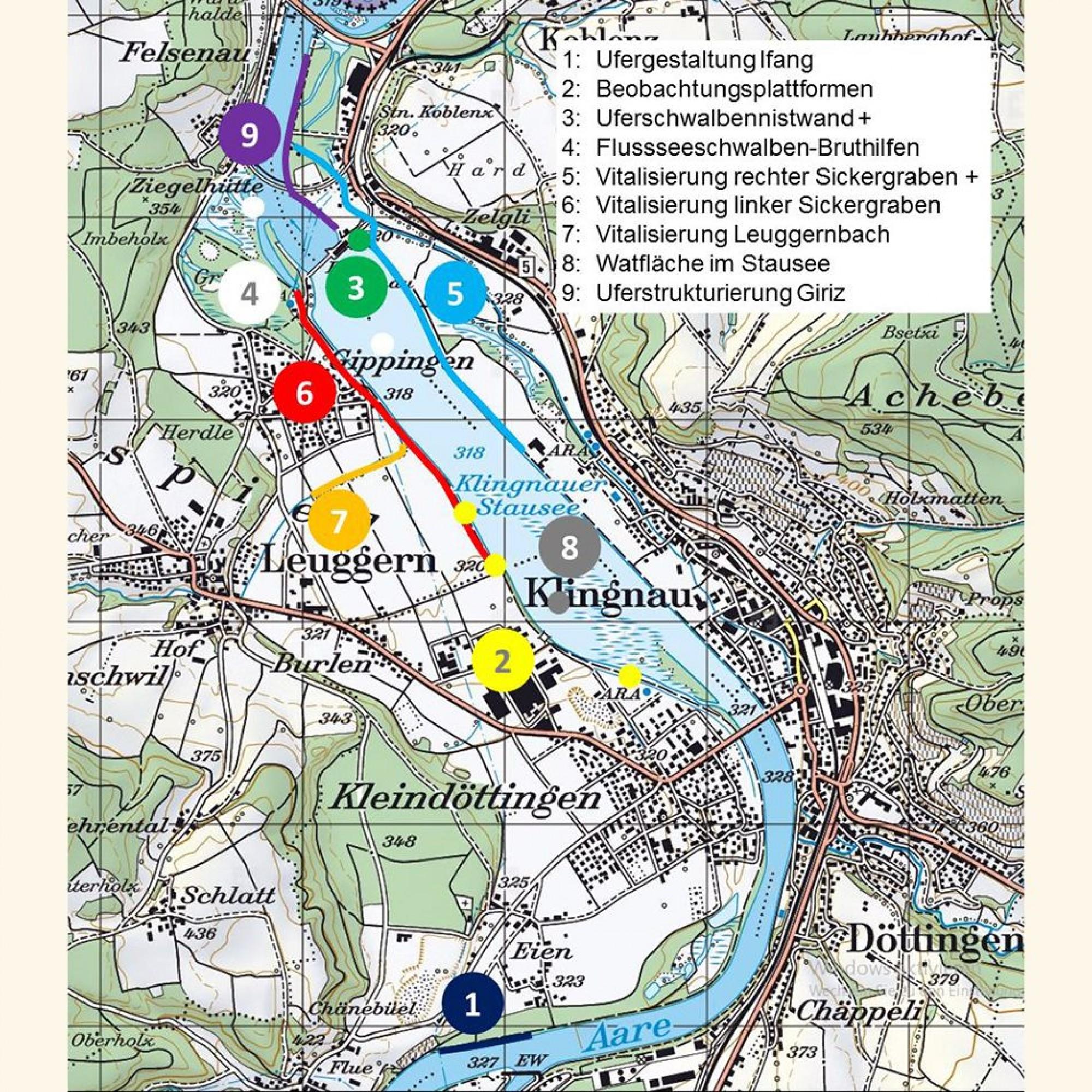Grafik Klingnauer Stausee