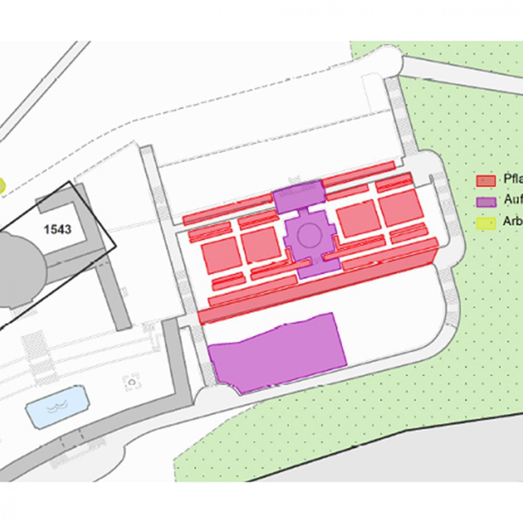 Grafik zur Nutzung der Kräuterei Luzern im alten Krematorium