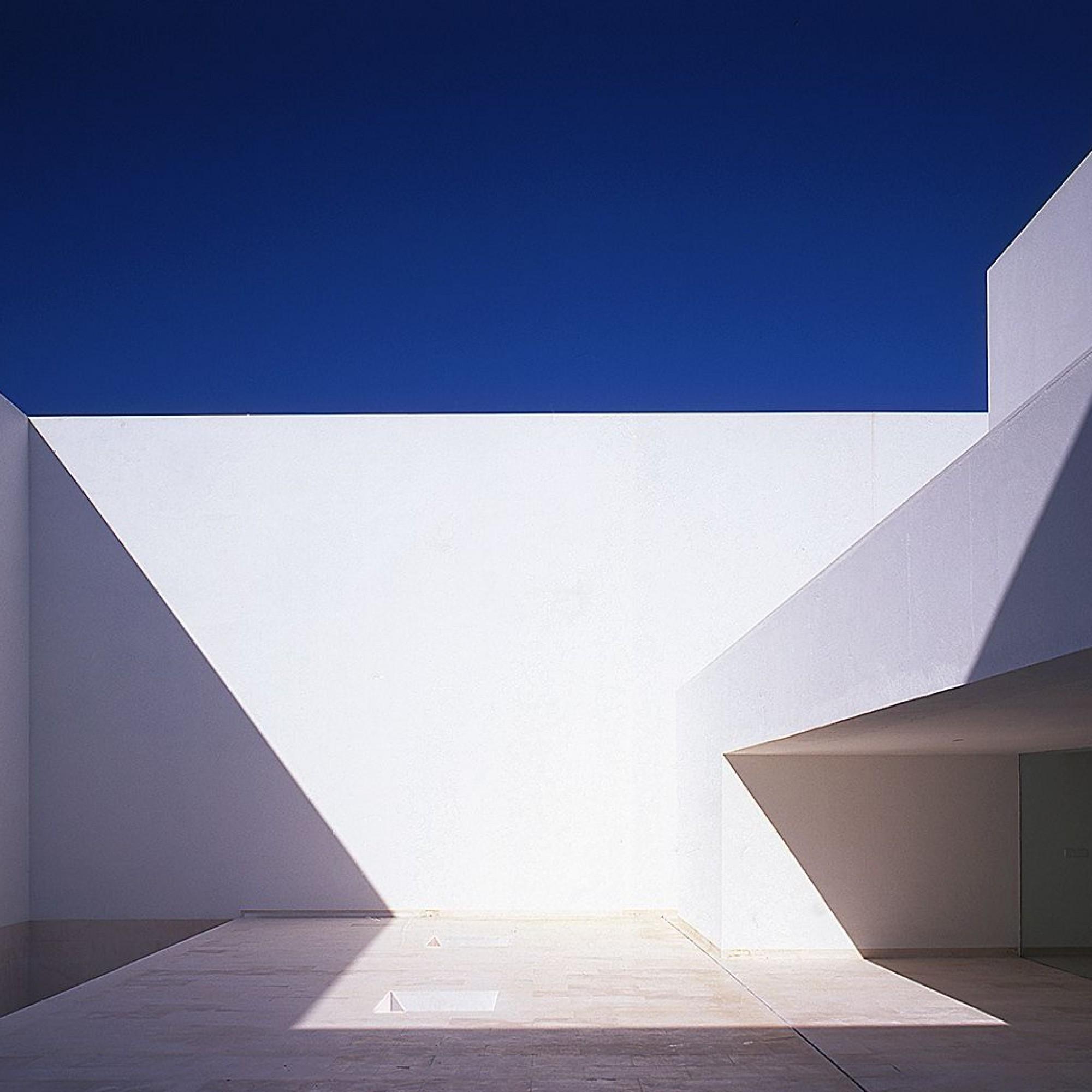 Innenhof des Guerrero Haus, Zahora, Spanien, Alberto Campo Baeza.