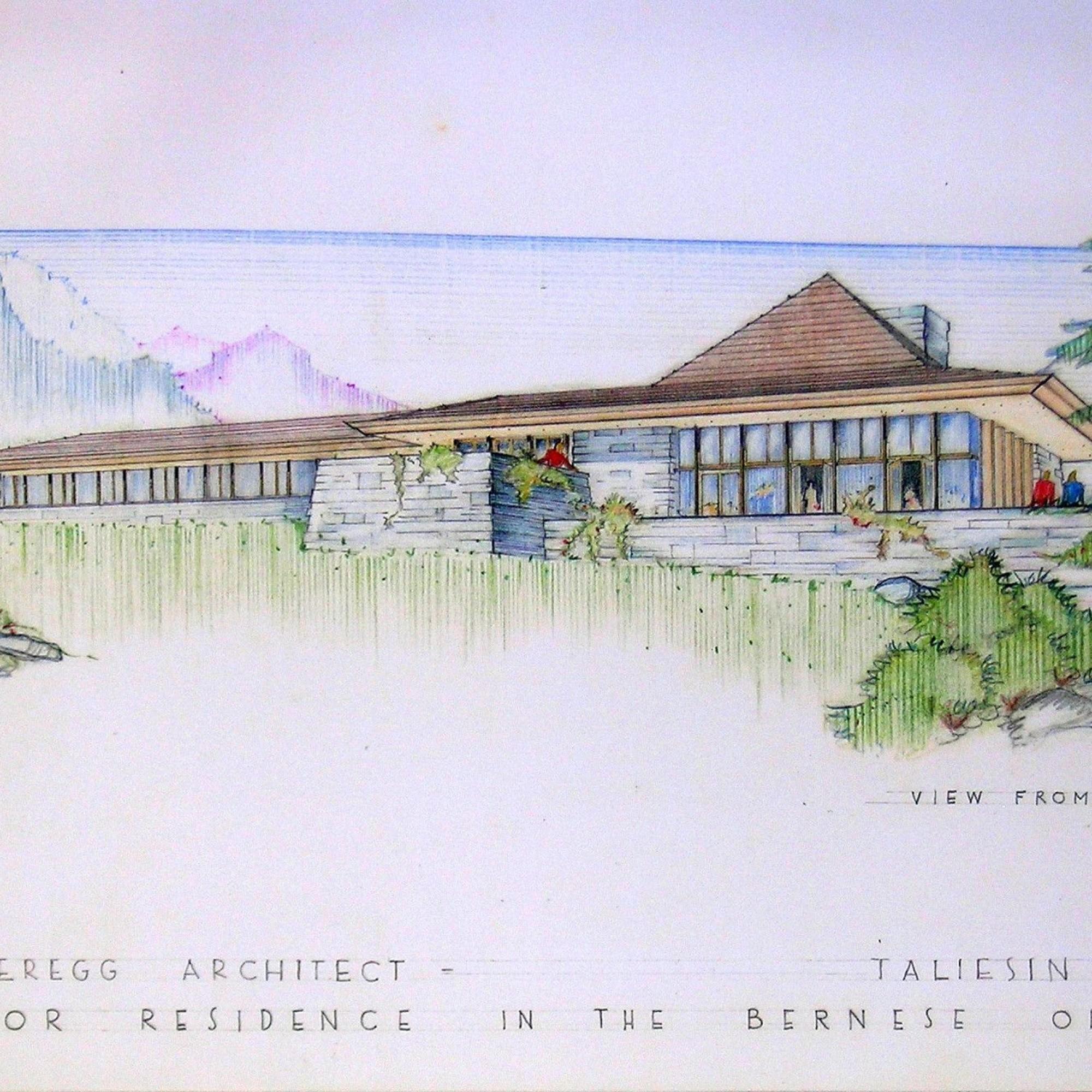 Entwurf für ein mondänes Haus im Berner Oberland
