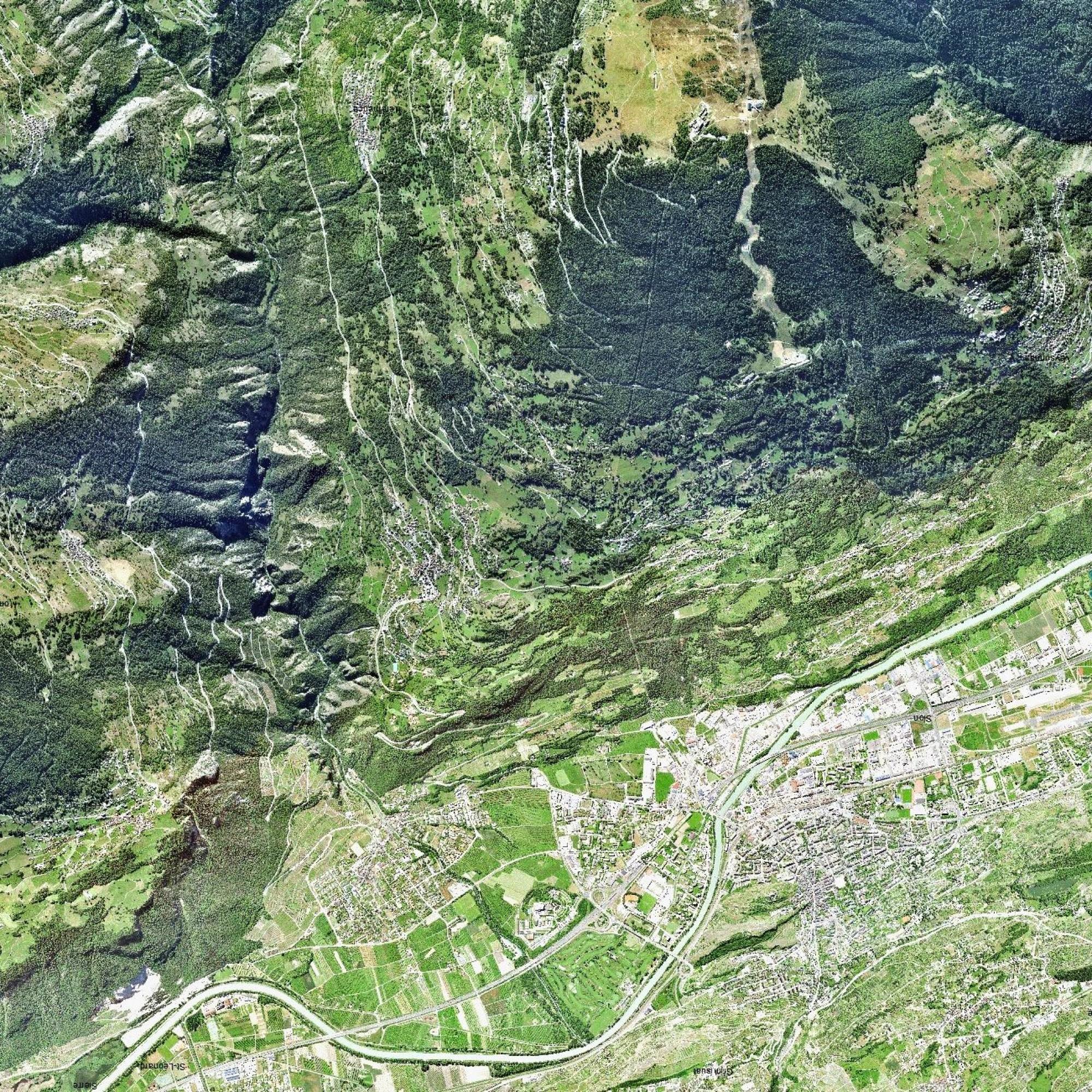 Luftaufnahme von Sion