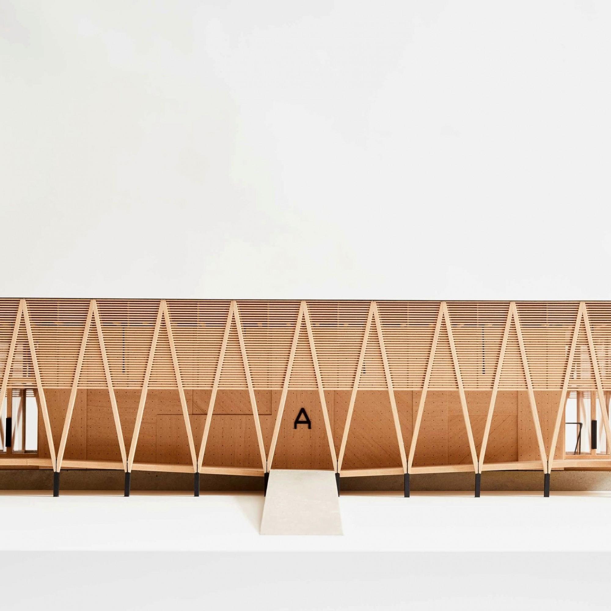 Modell Kunstpavillon Centre Albert Anker