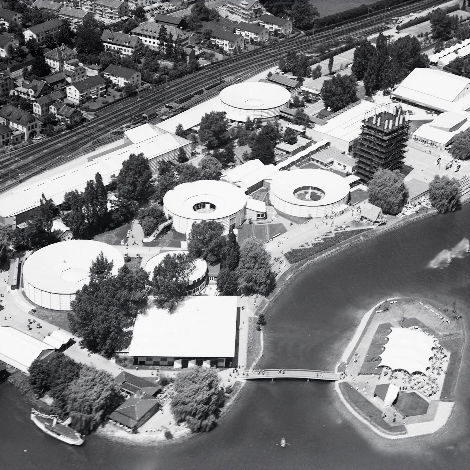 Luftaufnahme von der Saffa 1958.