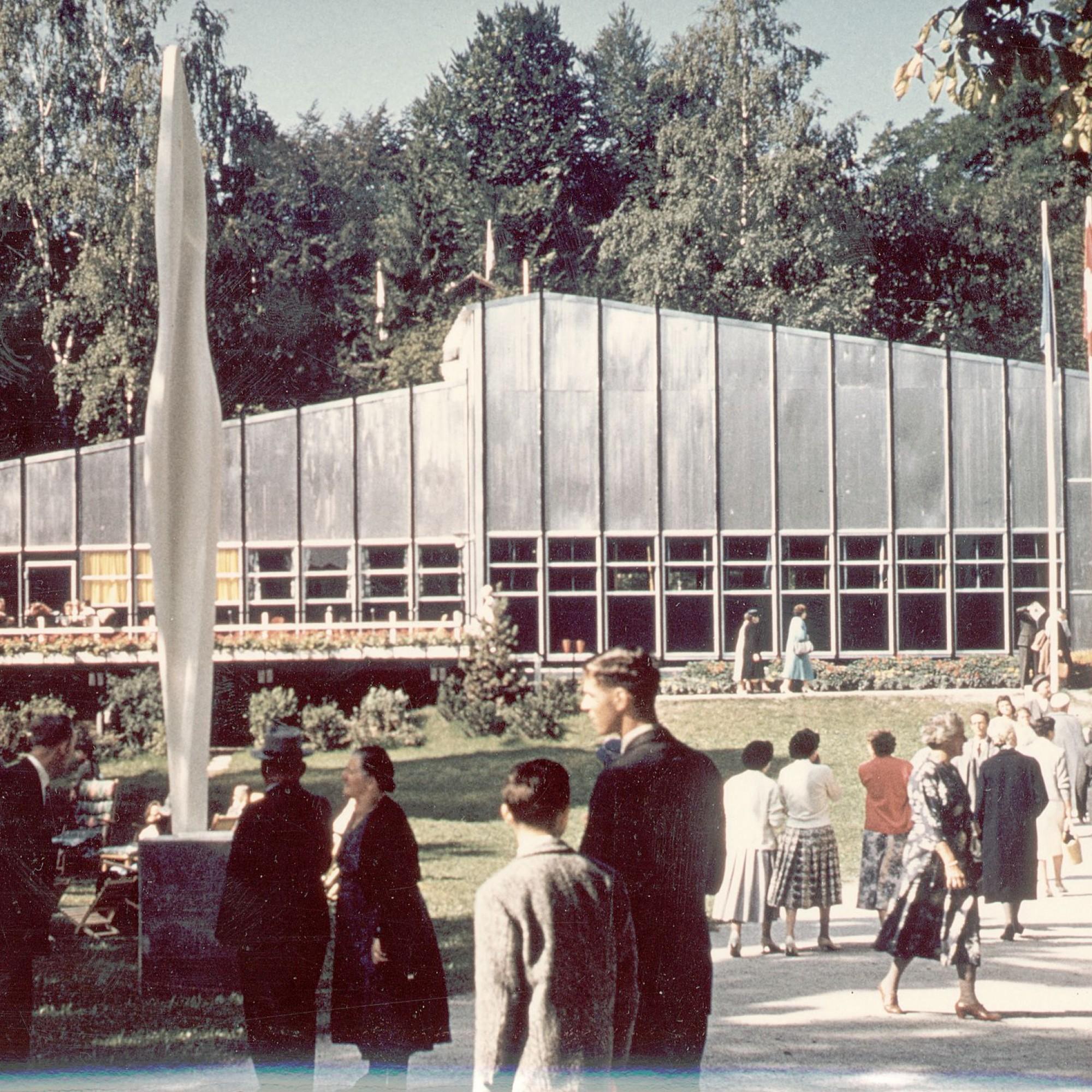 Clubaus an der Saffa 1958, historische Aufnahme.