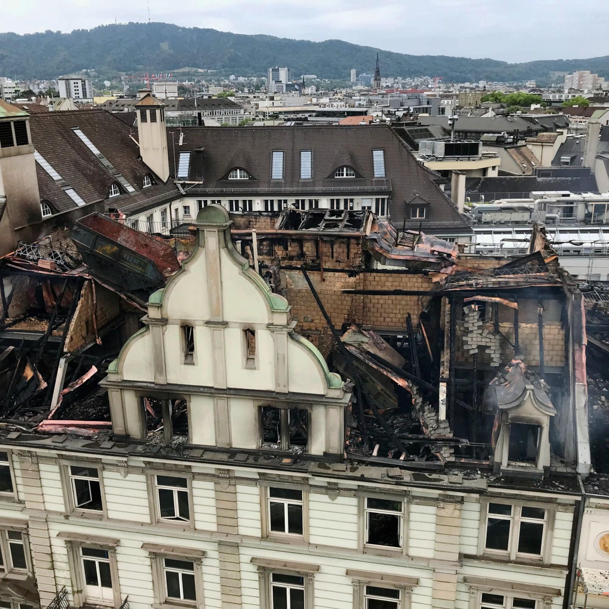 Sachschaden nach Grossbrand bei HB Zürich