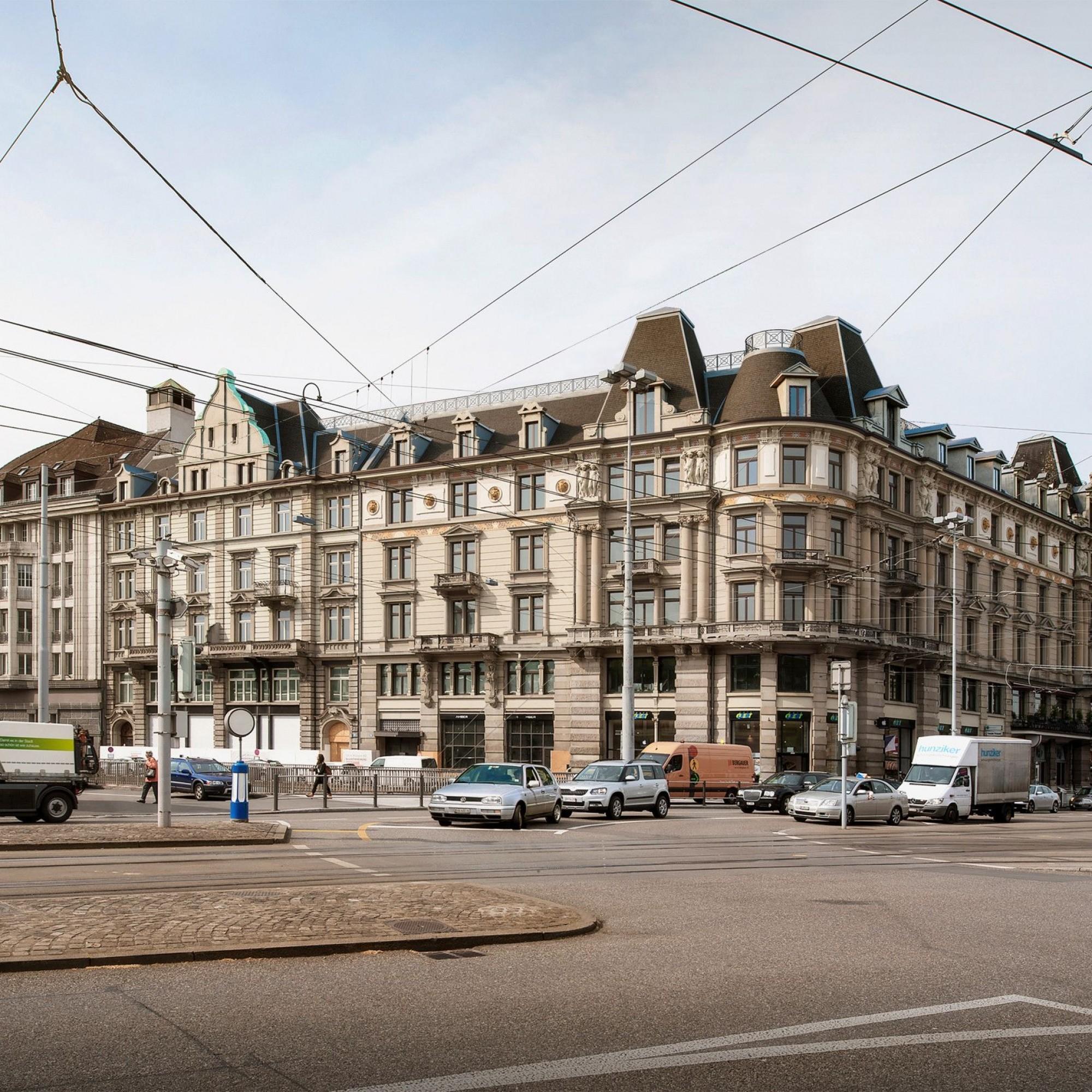 Visualisierung Blockrandbebauung am Zürcher Bahnhofplatz