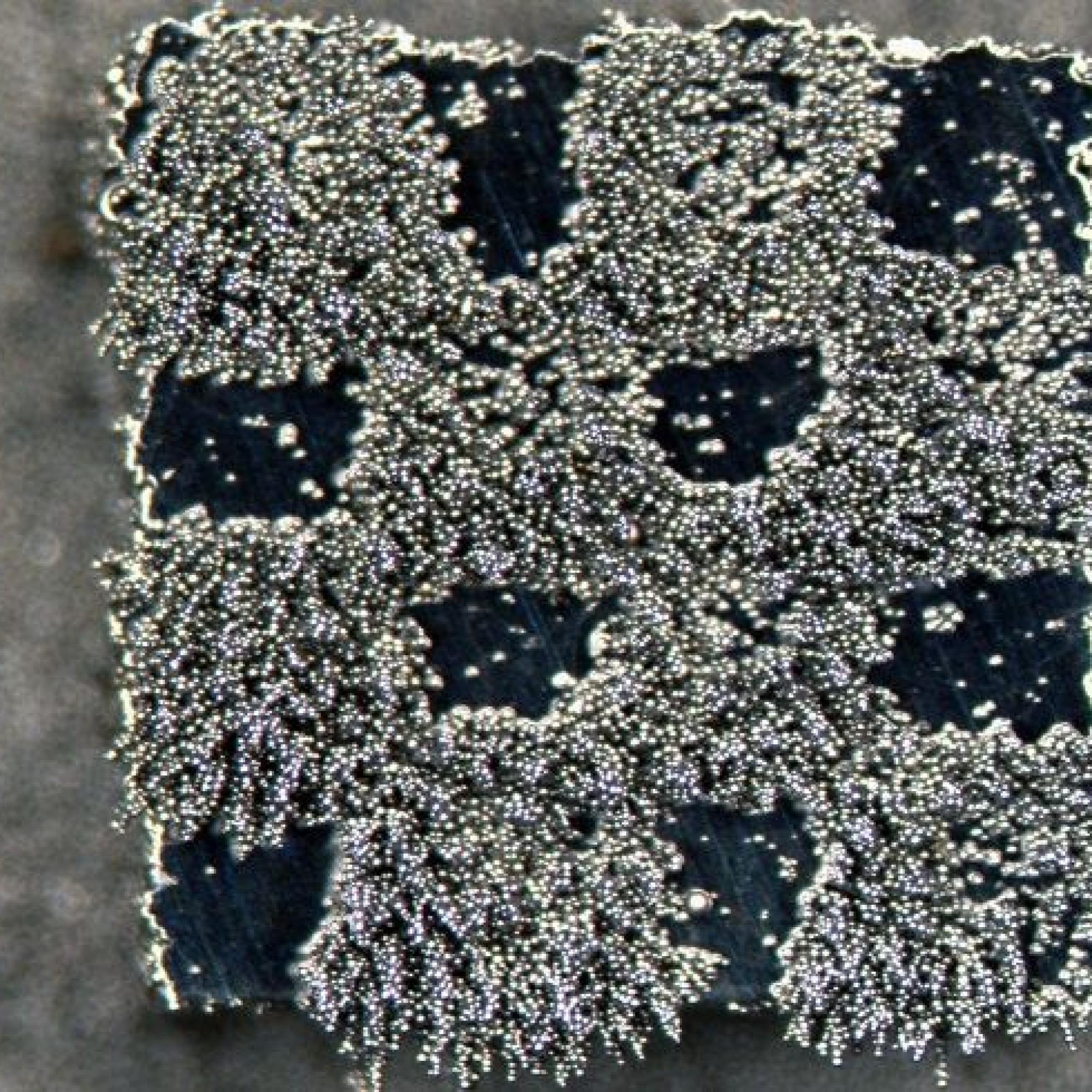 Magnetisches Mini-Schachbrett aus einem Stahlpulver