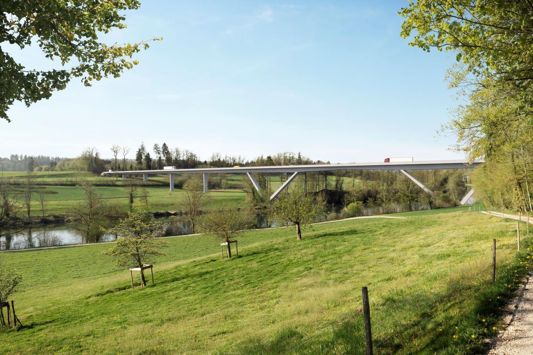 Visualisierung neue Aarebrücke