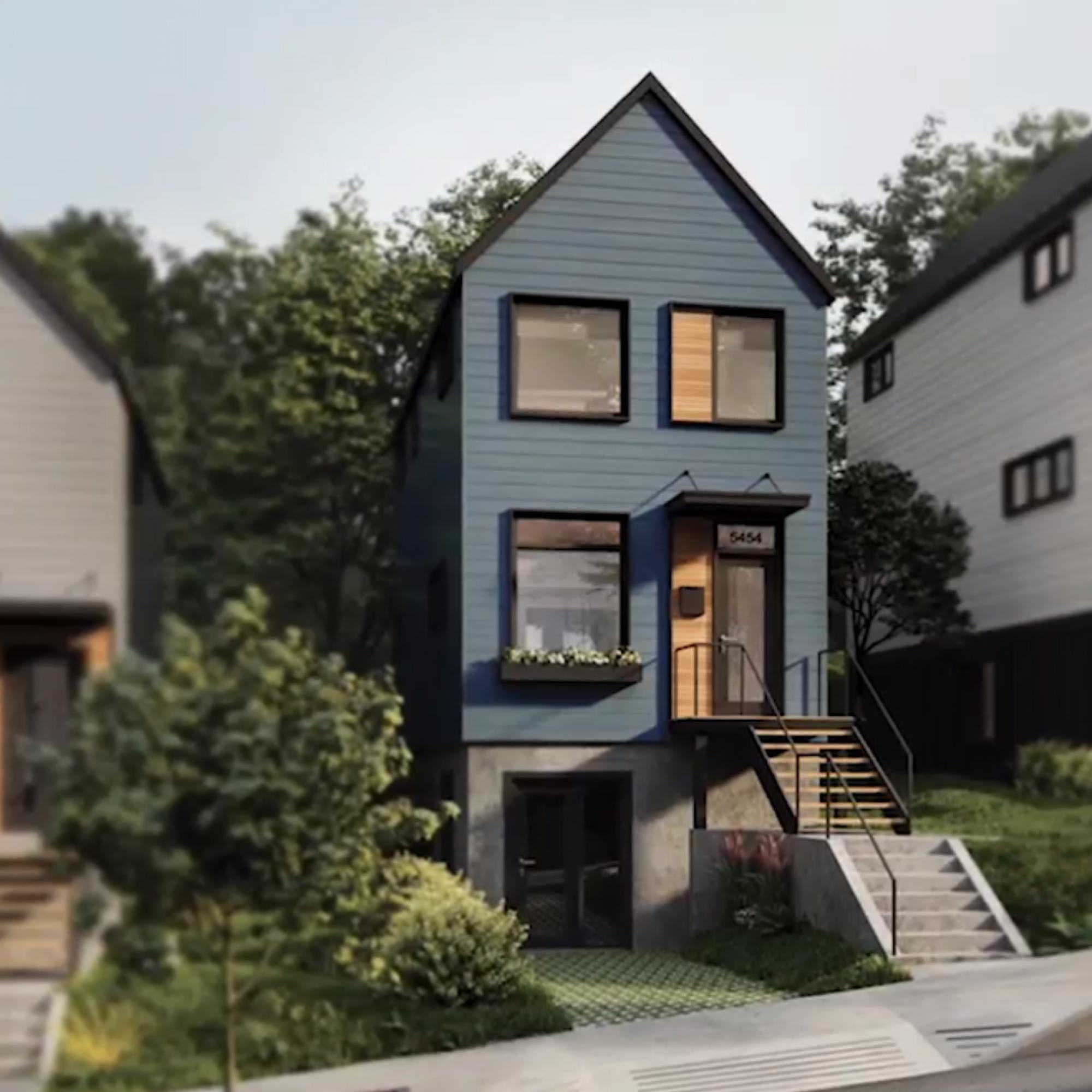Eigenheime, die mitwachsen: So baut der US-Anbieter Module Design Inc. seine Lego-ähnlichen Kleinhäuser.