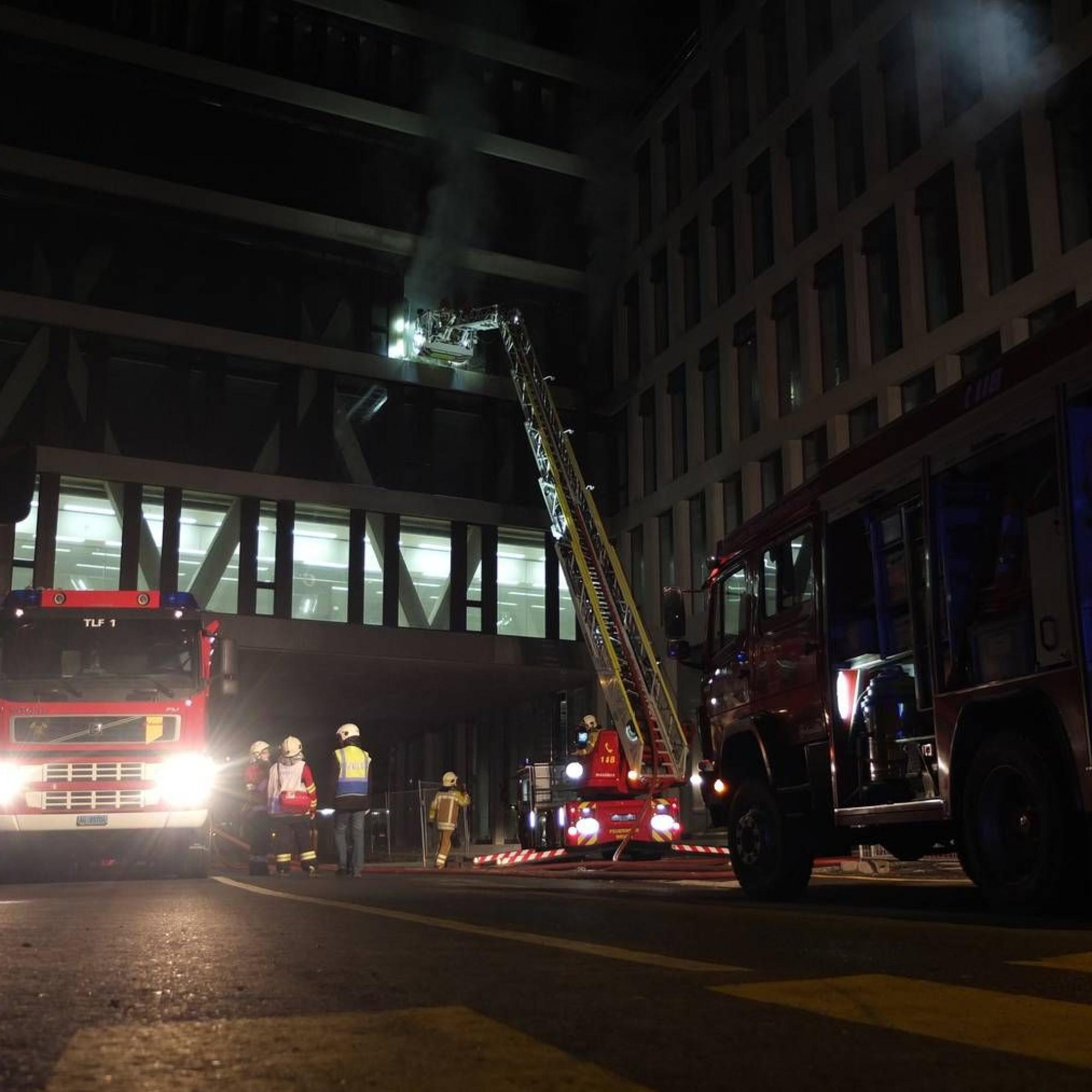 Grossbrand bei FHNW-Campus von 2013