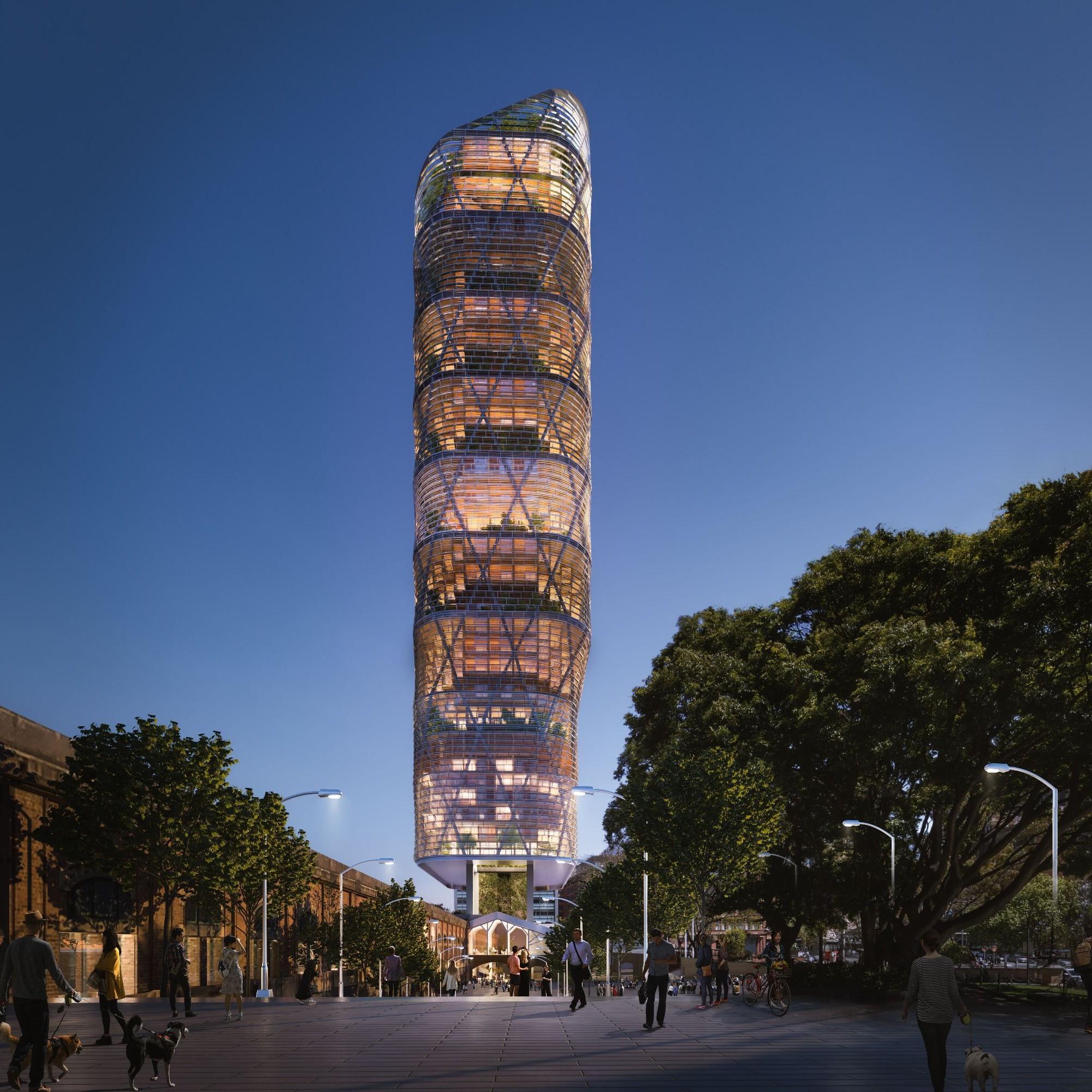 Hybrid-Holzhochhaus in Sydney