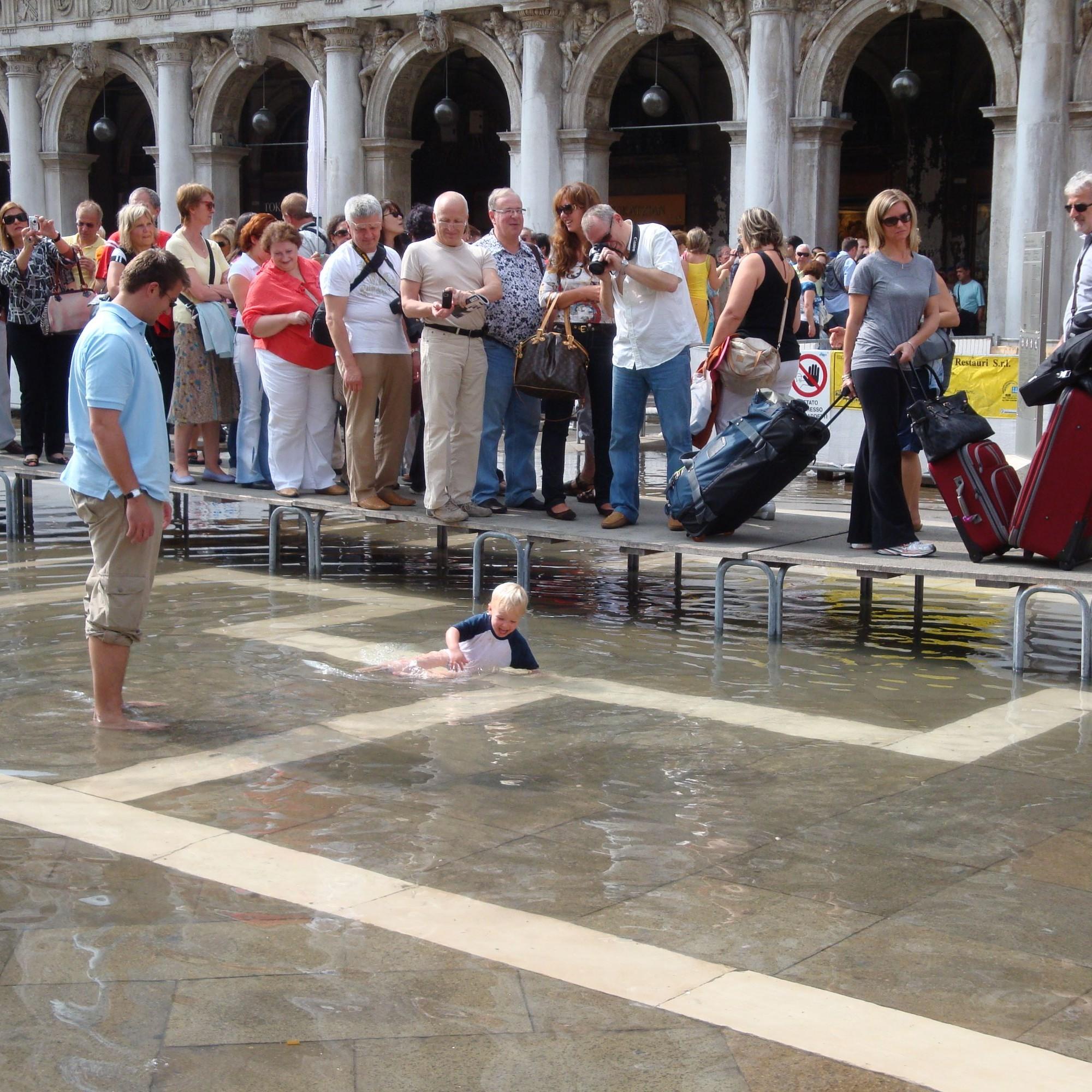 In Venedig gehört Hochwasser fast zum Alltag.