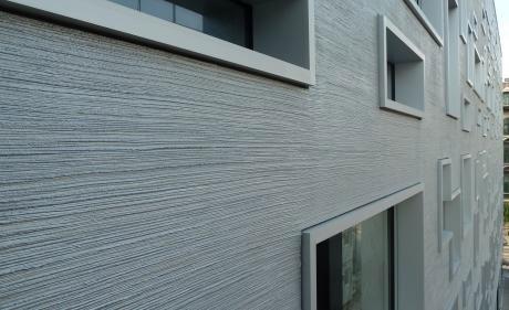 Cocoon Detailansicht Fassade.