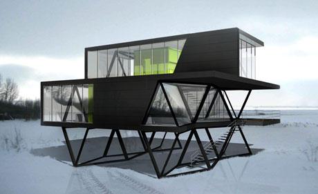 ...als Tragkonstruktion eines Hauses...