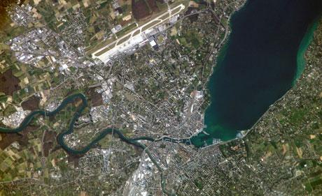 Luftaufnahme Genfer Seebecken (zvg)