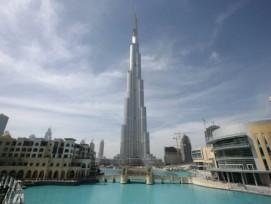 828 Meter Burj Khalifa ist eindeutig das höchste Gebäude der Welt.