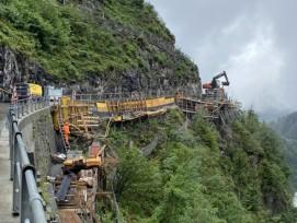 Bauarbeiten an der Bristenstrasse