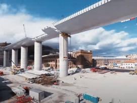 Bau der neuen Morandi-Brücke