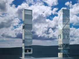 Adaptives Hochhaus der Universität Stuttgart (Visualisierung)