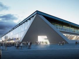 Visualisierung neues Fussball-Stadion in Lausanne